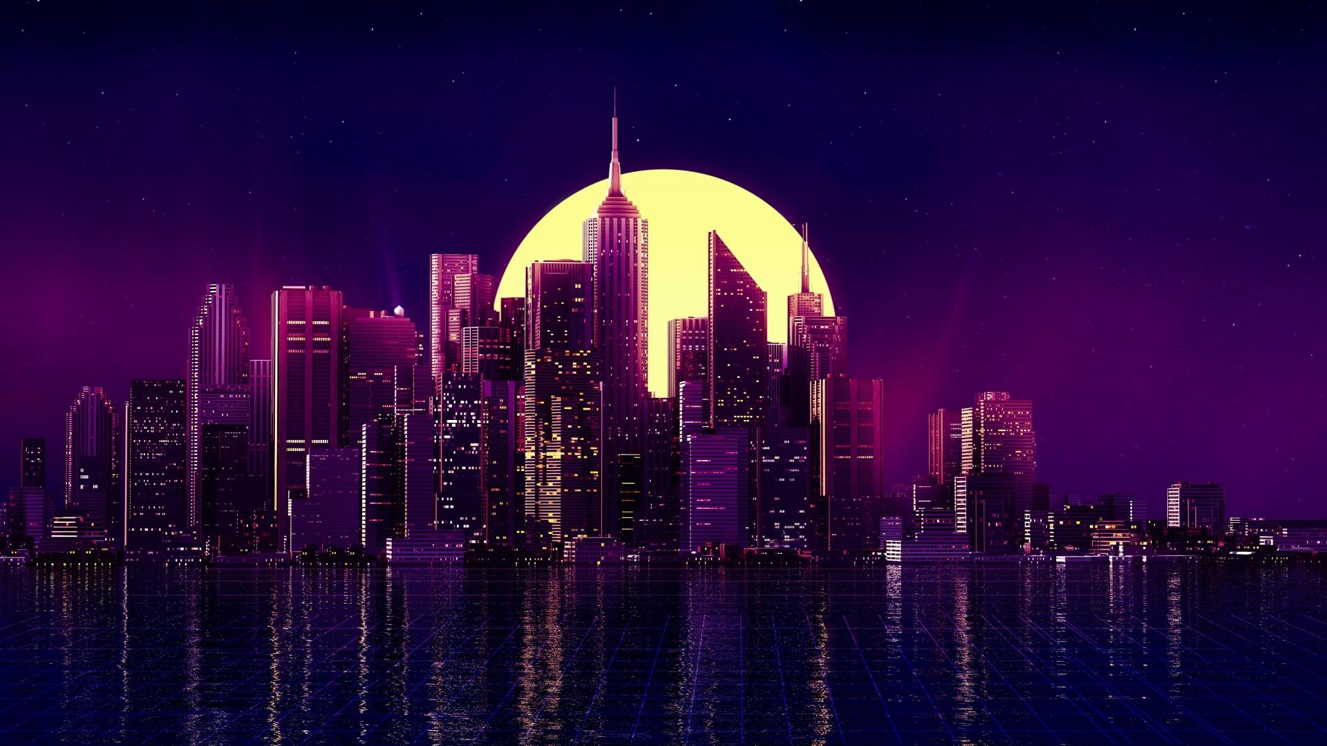 1920x1080 Neon New York City 1080p Laptop Full Hd Wallpaper
