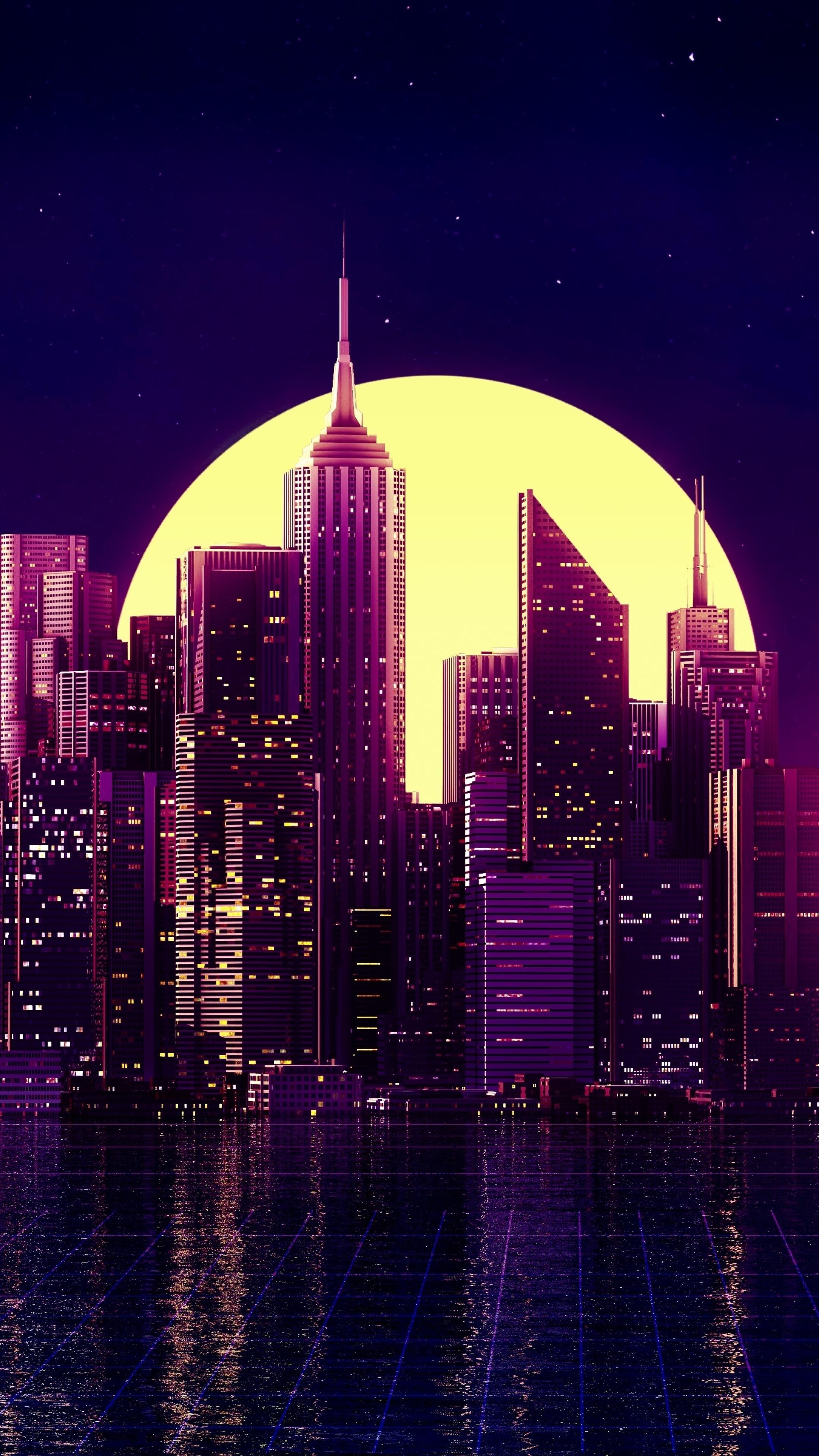 2160x3840 Neon New York City Sony Xperia X,XZ,Z5 Premium ...