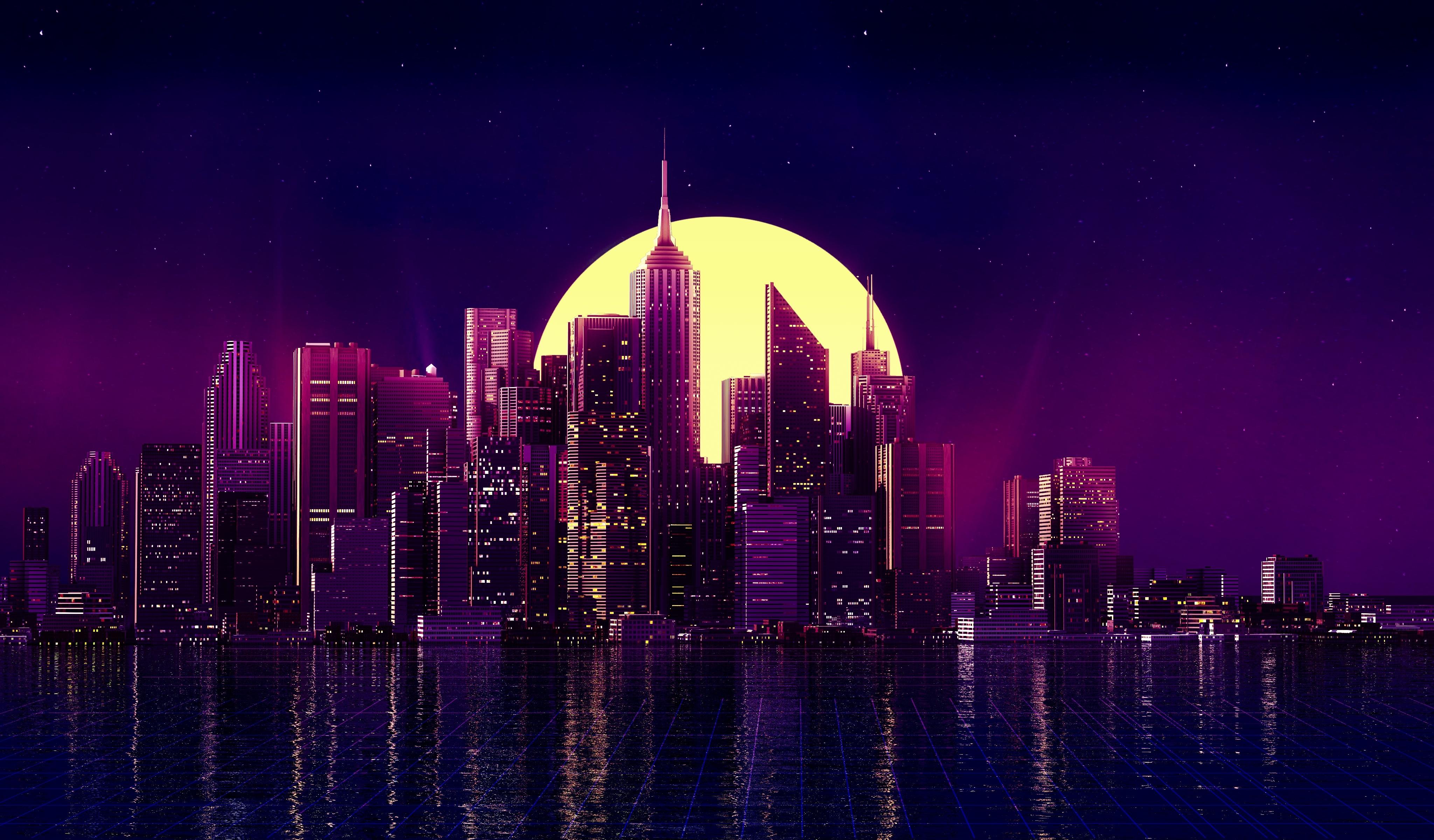 Neon New York City Wallpaper Hd City 4k Wallpapers Images