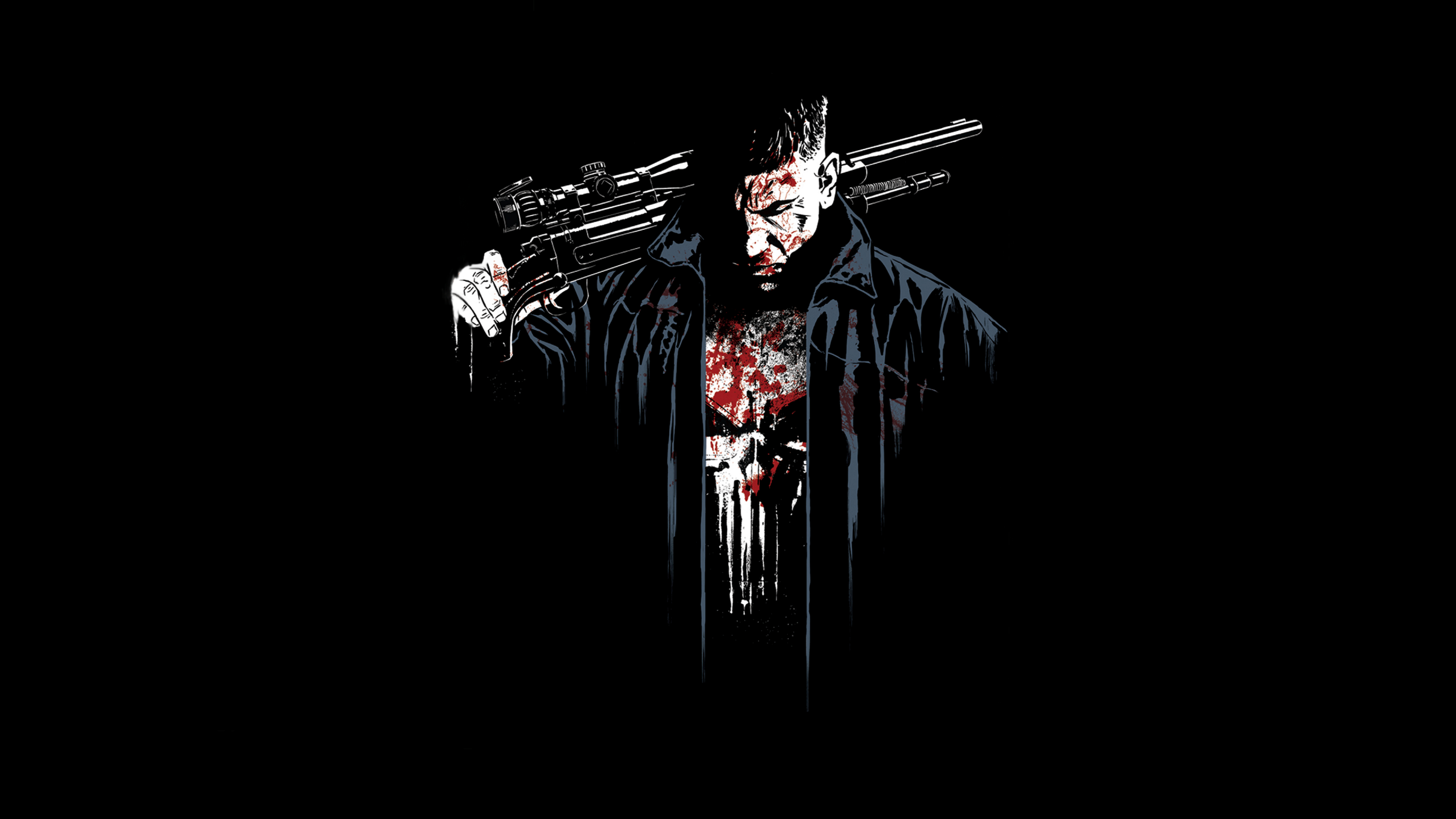 Netflix The Punisher Jon Bernthal Art Full Hd 2k Wallpaper