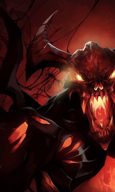 Download Nevermore Shadow Fiend Dota 2 480x800 Resolution Full HD