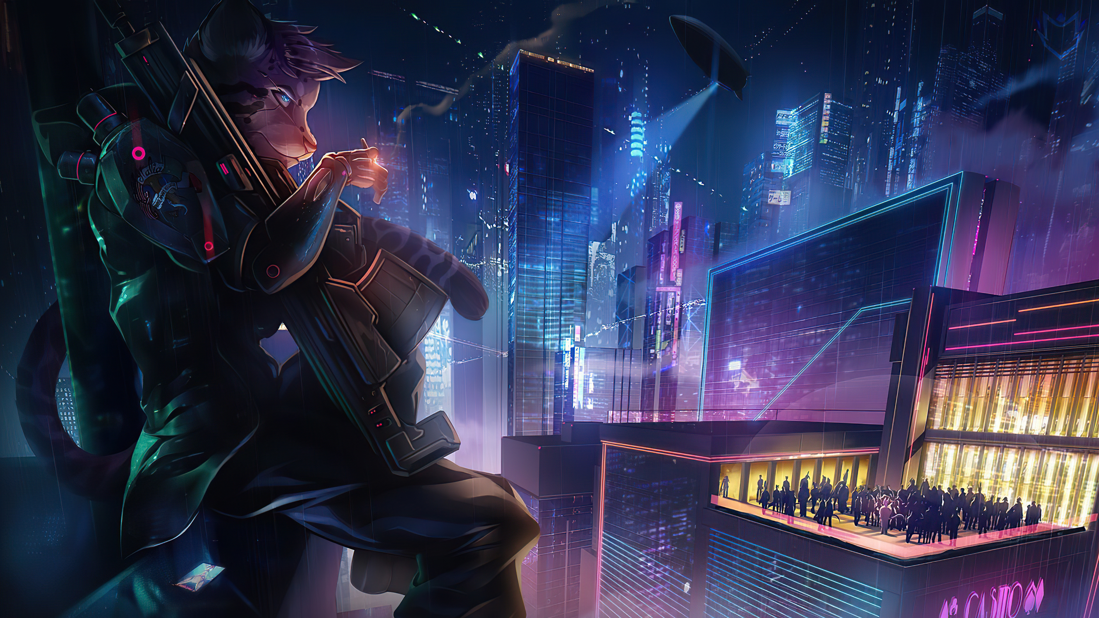 3840x2160 New 2020 Cyberpunk Artwork 4K Wallpaper, HD ...