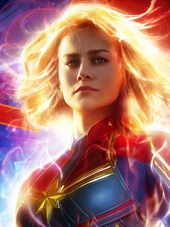 240x320 New Captain Marvel 2019 Movie Poster Android Mobile Nokia