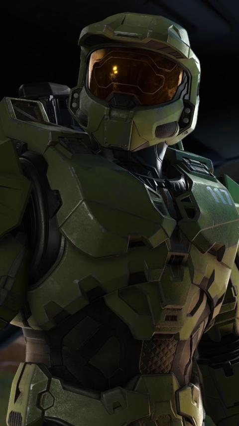 New Halo Infinite 4K Wallpaper in 480x854 Resolution