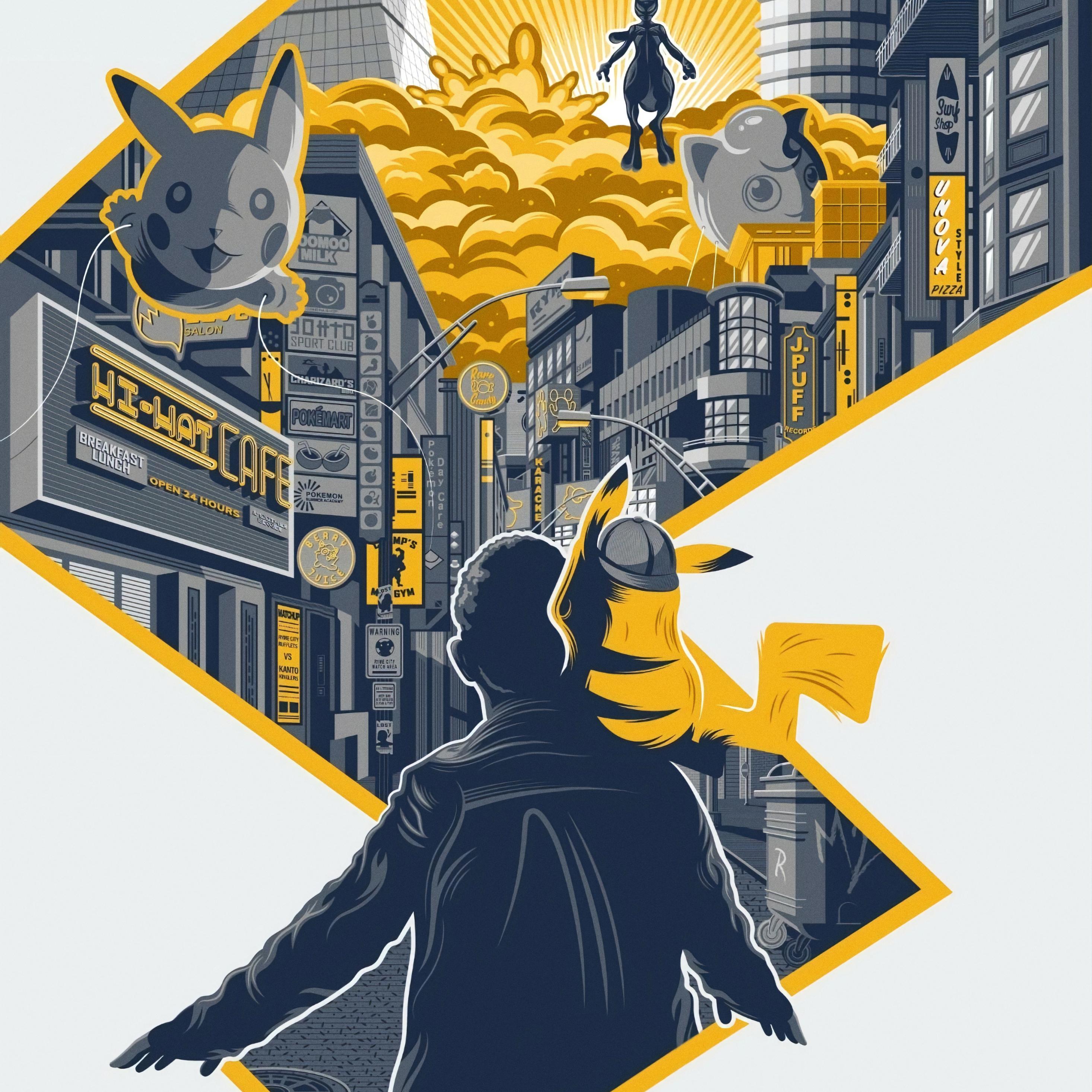 2932x2932 New Pokemon Detective Pikachu Movie Poster Ipad Pro