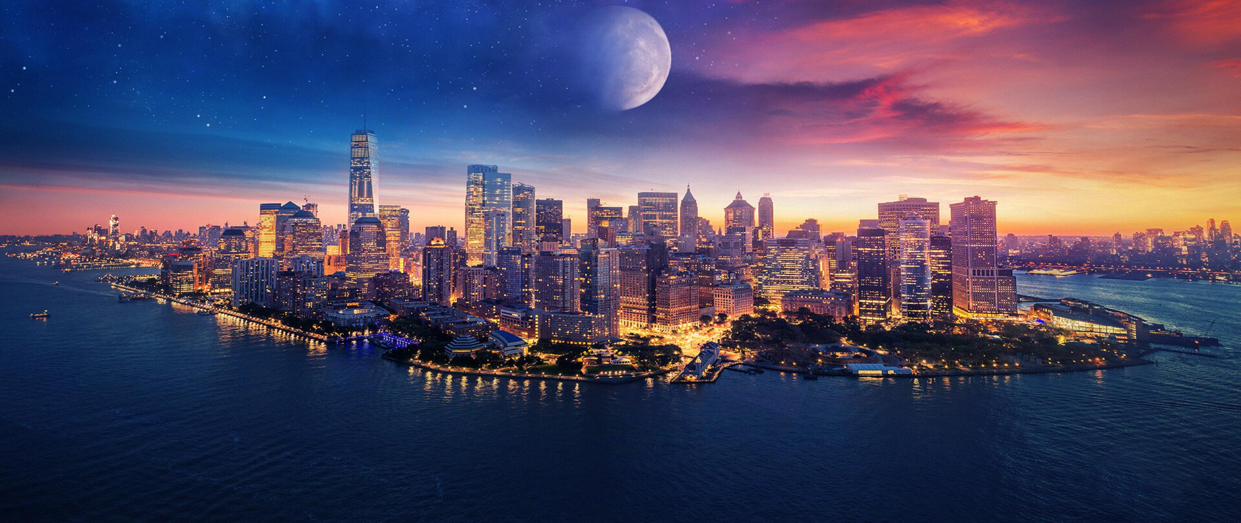 2560x1080 New York City Art 2560x1080 Resolution Wallpaper ...