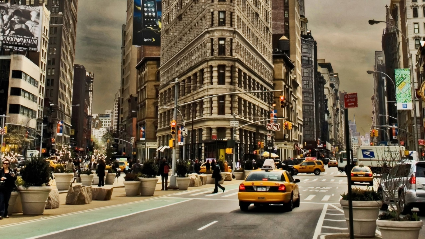 Download New York City Building 1366x768 Resolution Full HD 2K