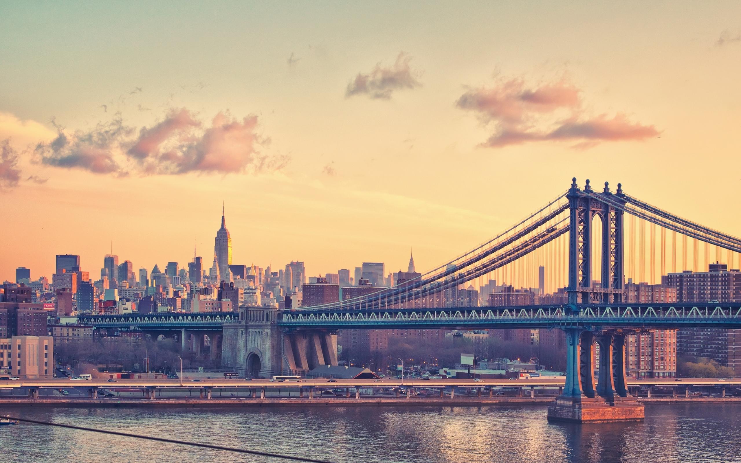 Нью-Йорк закат мост скачать