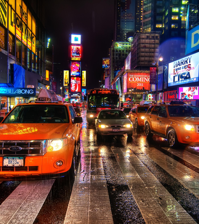 2200x2480 new york, night, taxi ...