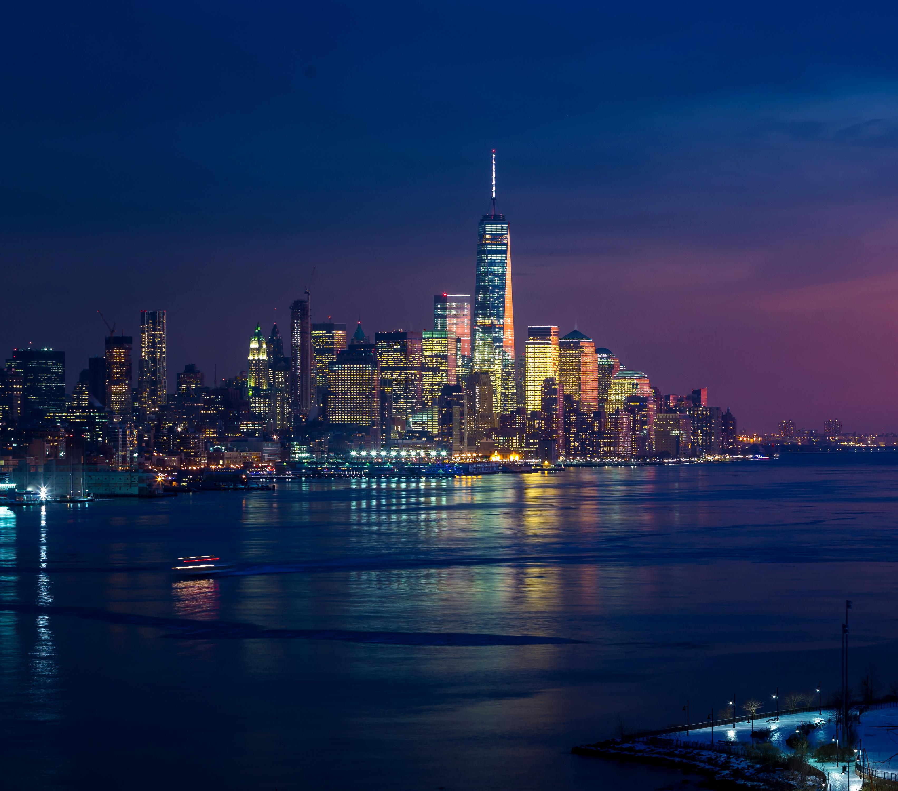 Tesla Model S 4k Hd Desktop Wallpaper For 4k Ultra Hd Tv: New York Skycrapper And Buildings Lights, HD 4K Wallpaper
