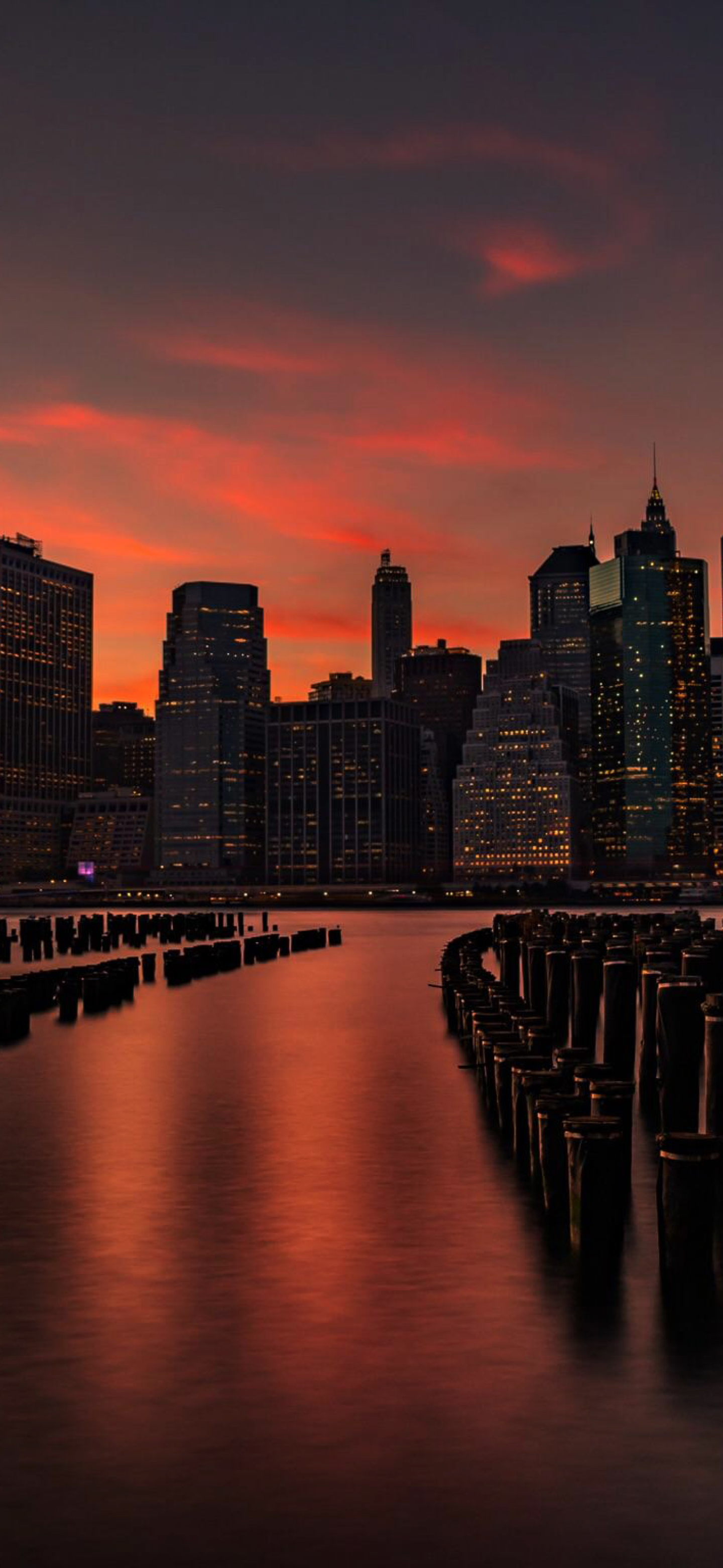 1440x3120 New York Sunset 1440x3120 Resolution Wallpaper Hd Nature 4k Wallpapers Images Photos And Background