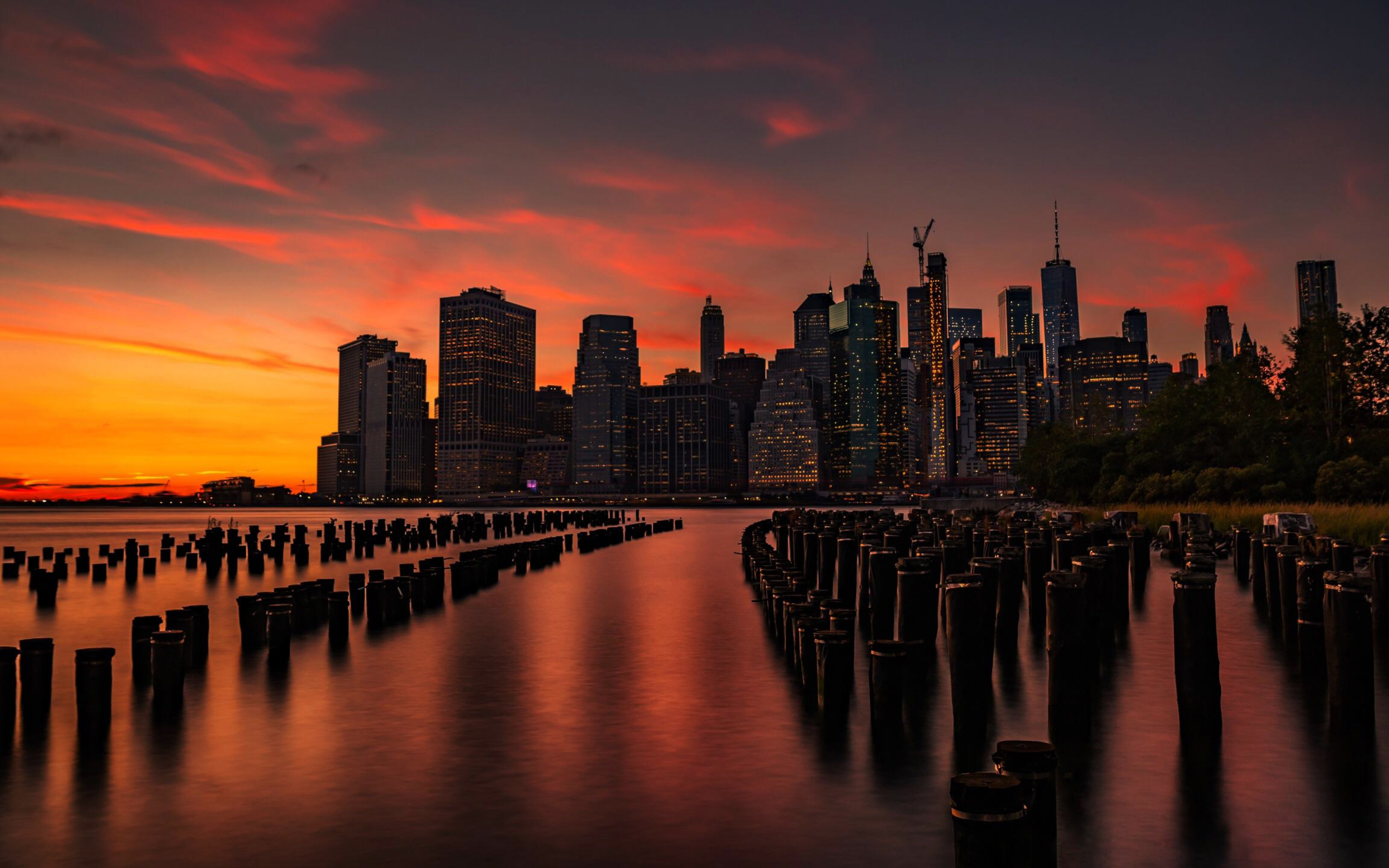 3840x2400 New York Sunset 4k 3840x2400 Resolution Wallpaper Hd Nature 4k Wallpapers Images Photos And Background