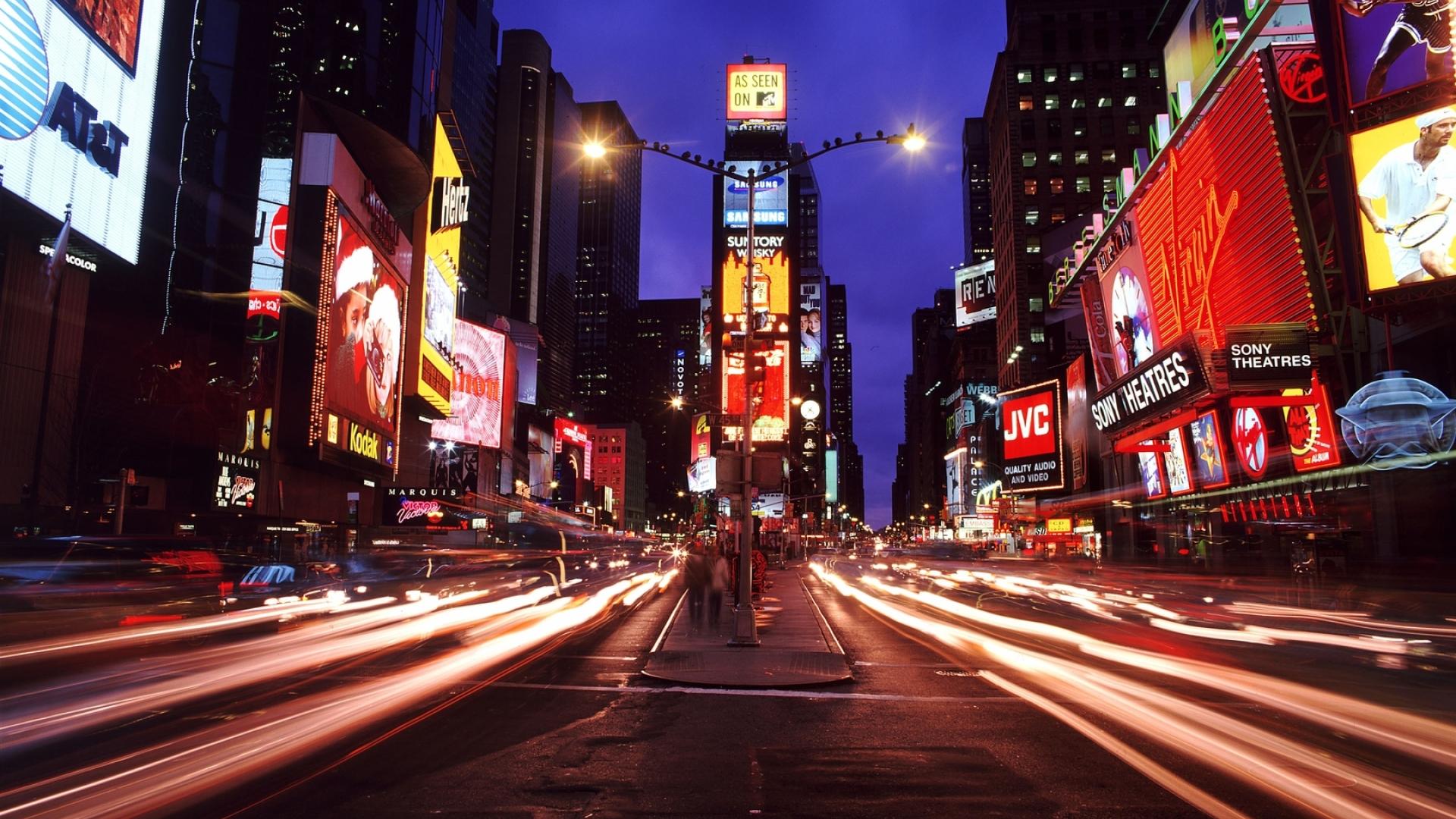 1920x1080 New York Times Square Night City 1080p Laptop Full Hd