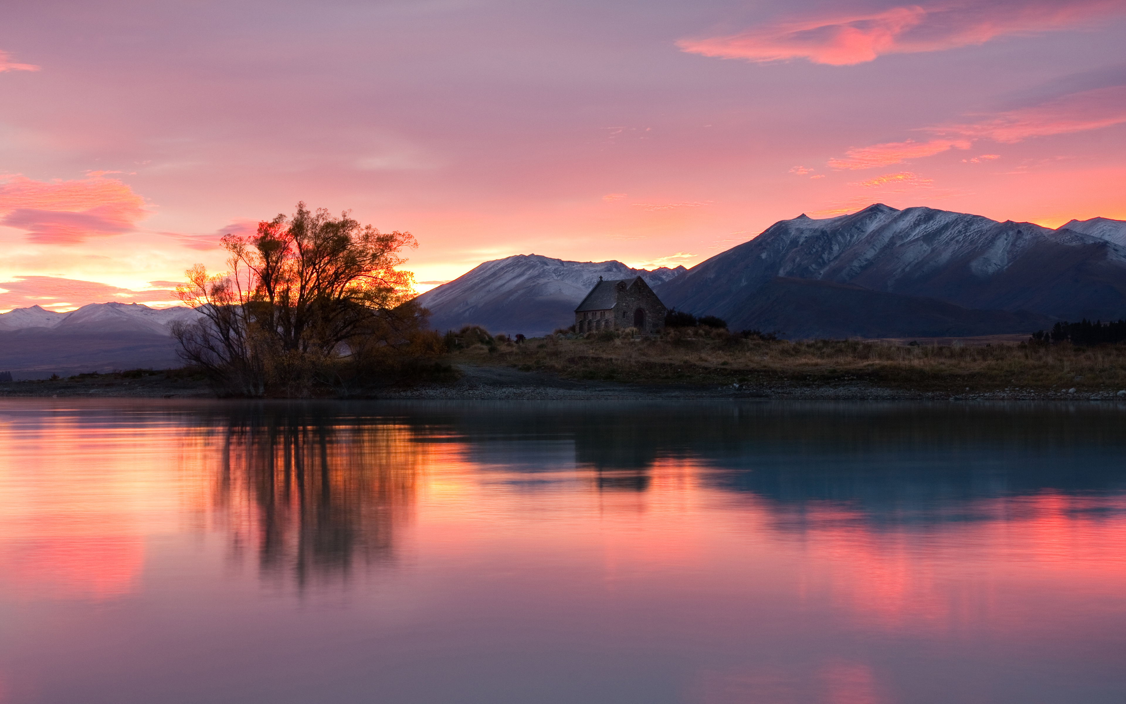 Nz Shooting Video Wallpaper: New Zealand, Sunrise, Lake, HD 4K Wallpaper