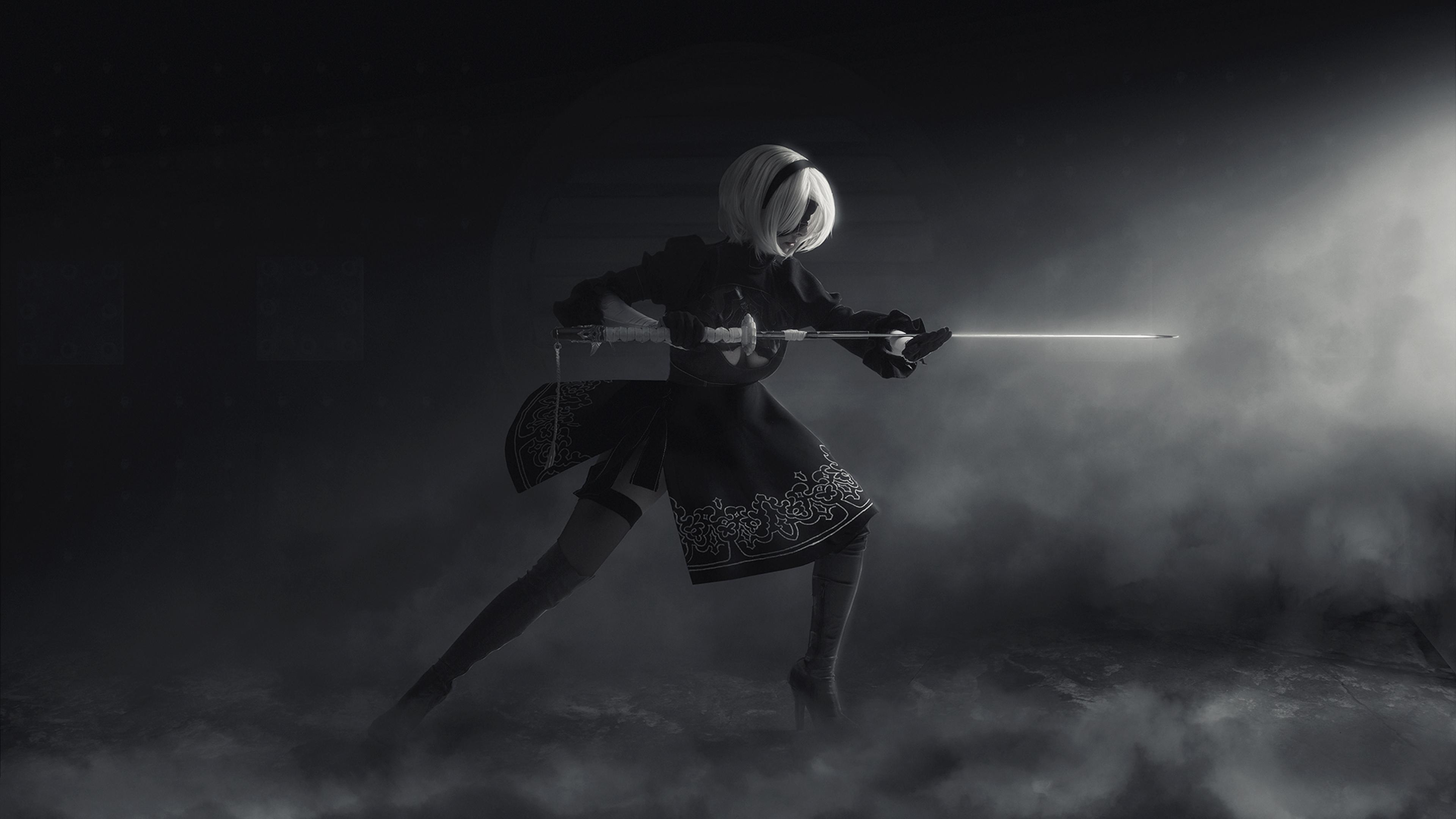 Nier Automata Cosplay, Full HD Wallpaper