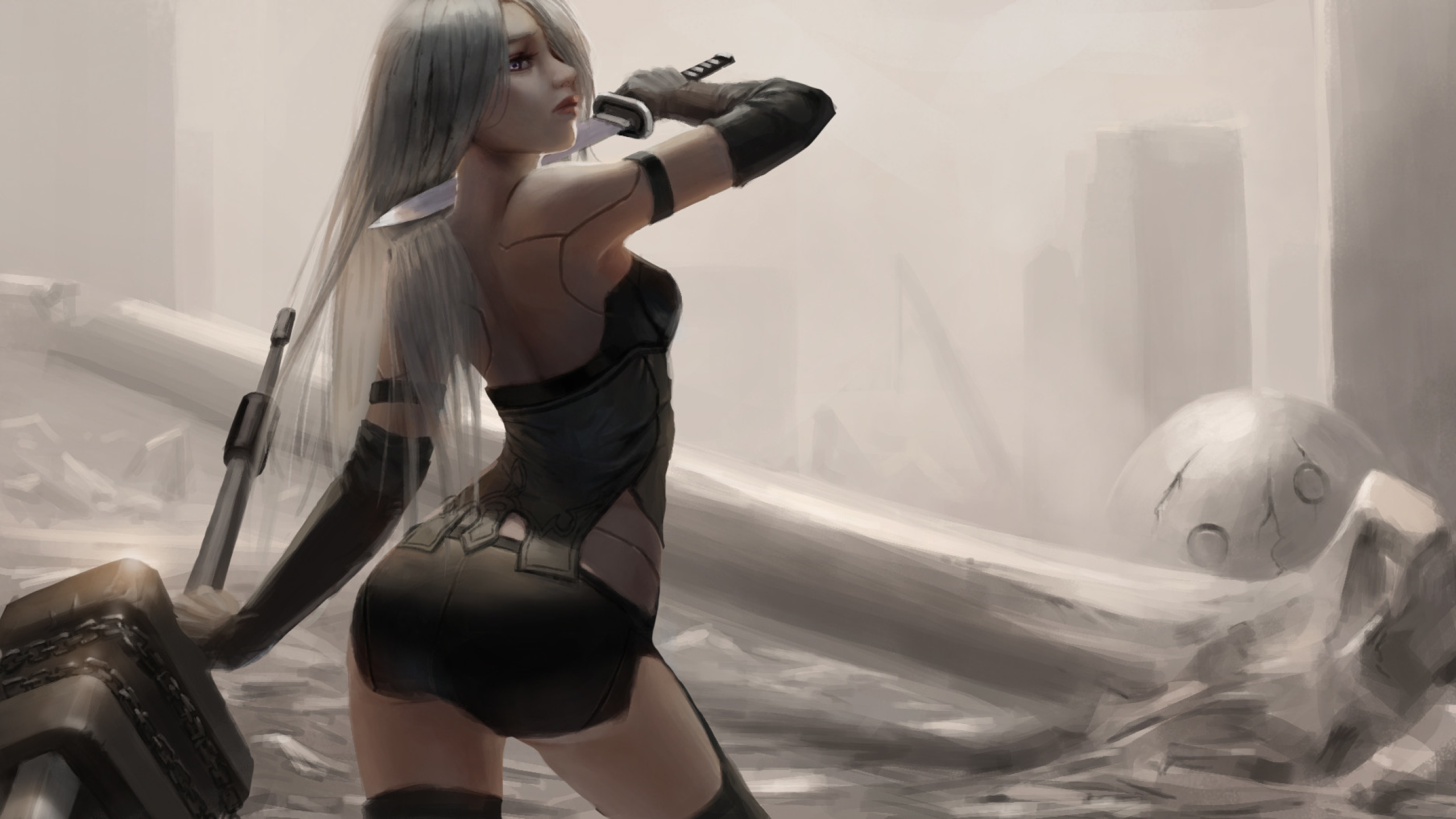 Nier Automata Fan Art Wallpaper 01 1920x1080: Nier Automata Fan Art, Full HD Wallpaper