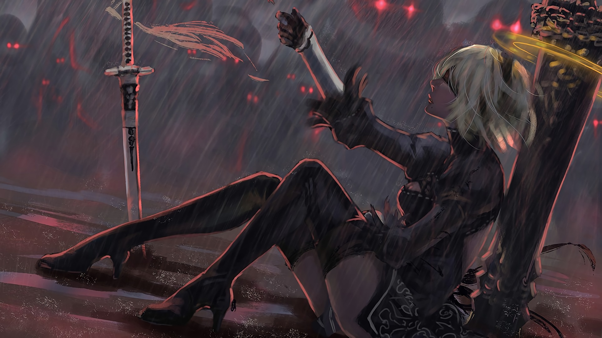 Nier Automata Fantasy Game Art Full Hd Wallpaper