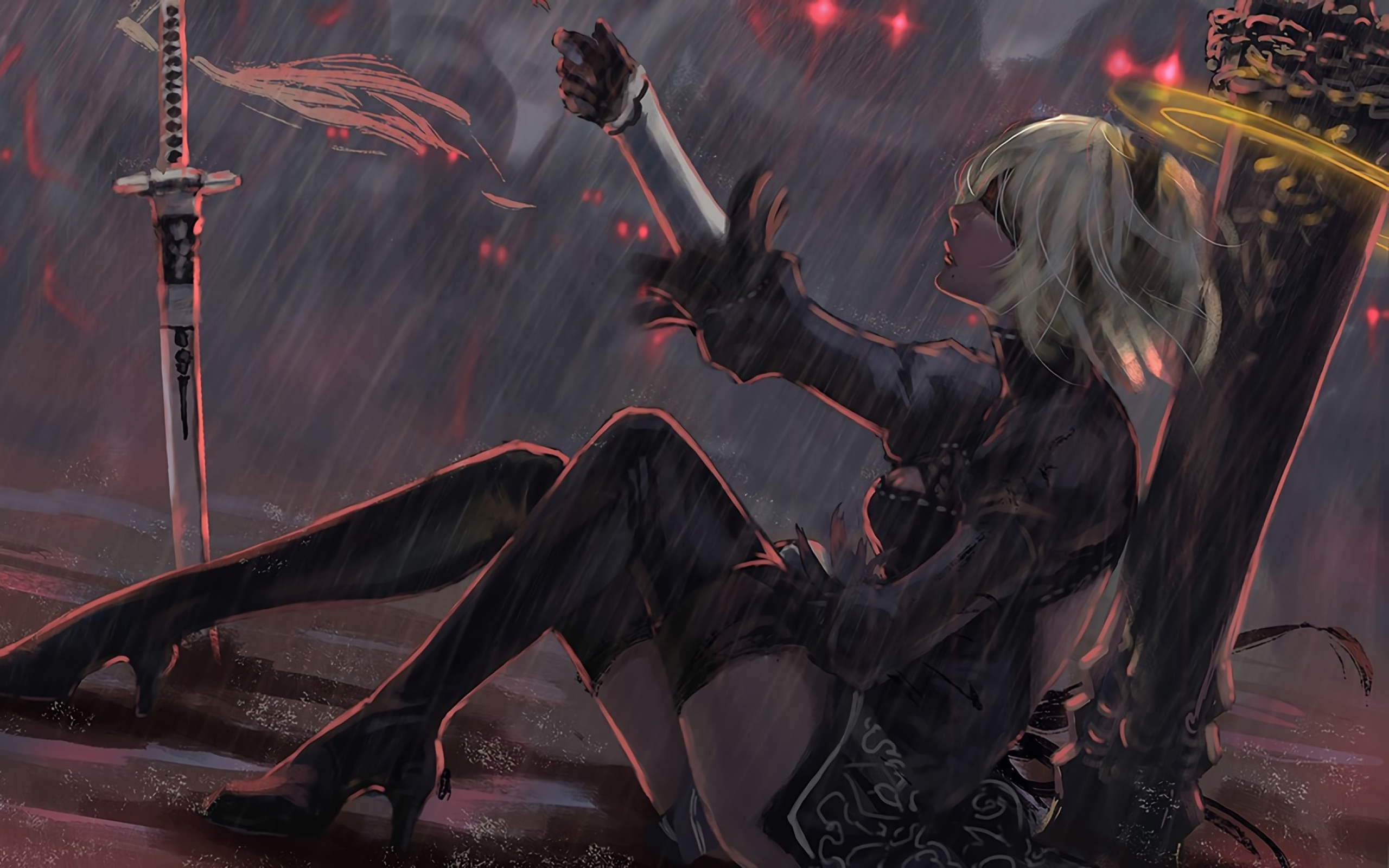 Nier Automata Fan Art Wallpaper 01 1920x1080: Nier Automata Fantasy Game Art, Full HD Wallpaper