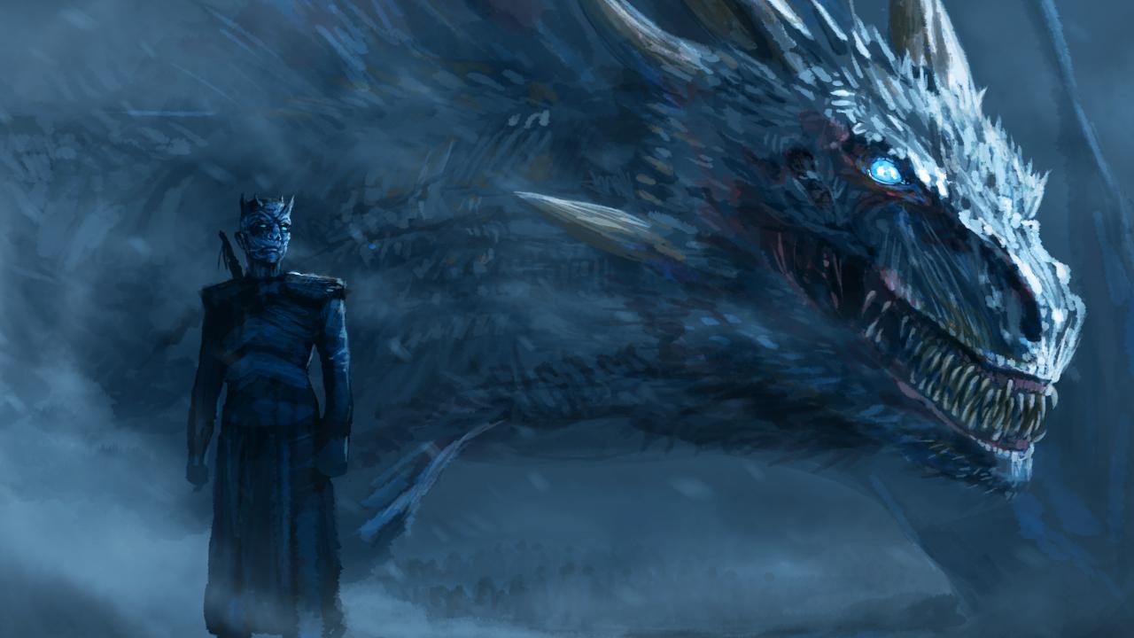 1280x720 Night King Blue Eyes White Dragon 720p Wallpaper Hd