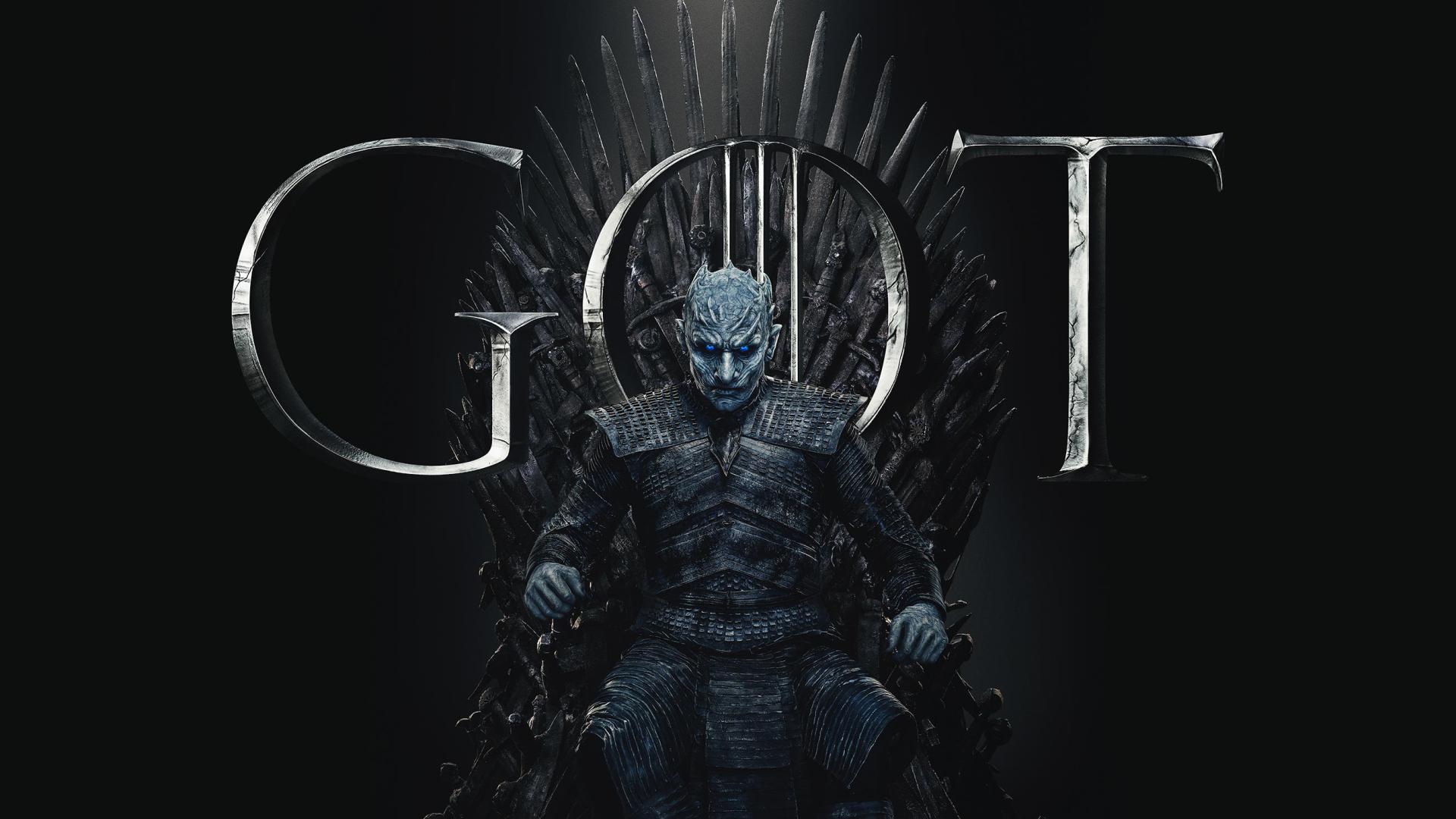 1920x1080 Night King Game of Thrones Season 8 Poster 1080P ...