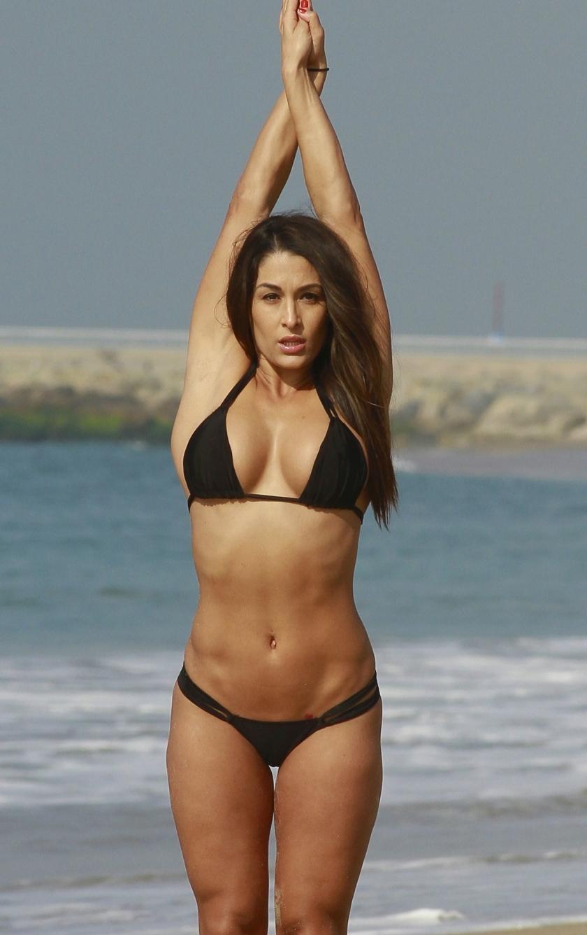 Nikki Bella Yoga Pose HD Wallpaper