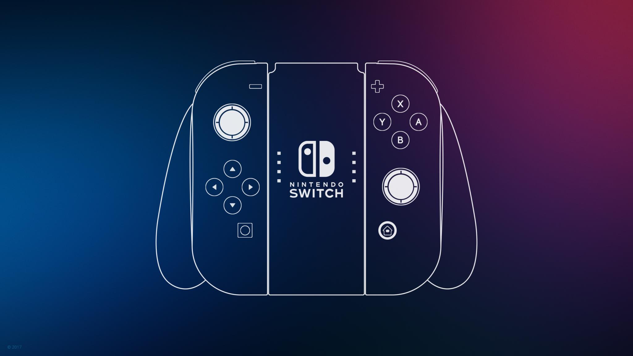 2048x1152 Nintendo Switch Controller Minimal 2048x1152 ...