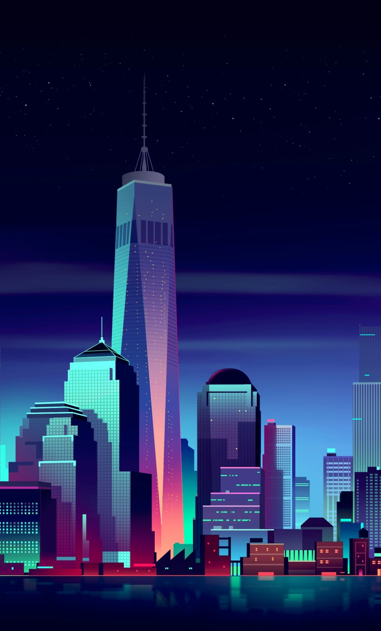 Nyc Minimalist Full Hd 2k Wallpaper