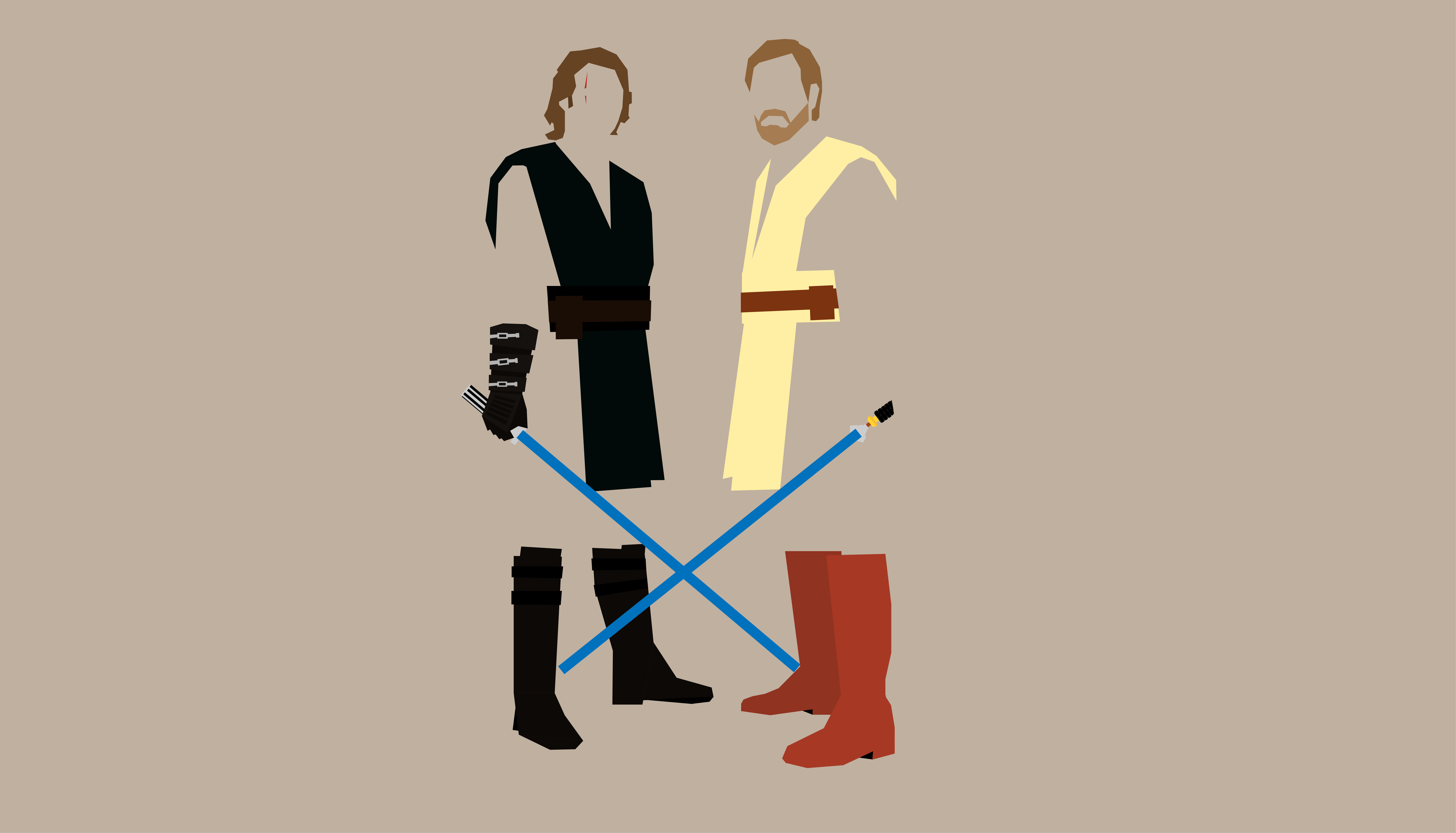 2560x1440 Obi Wan Kenobi And Anakin Skywalker 1440p Resolution Wallpaper Hd Minimalist 4k Wallpapers Images Photos And Background