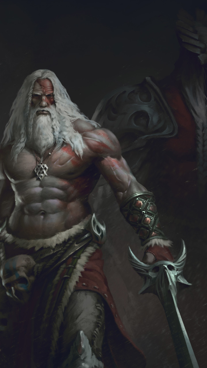 Download old beard man with sword warrior 720x1280 resolution hd download in 720x1280 voltagebd Choice Image