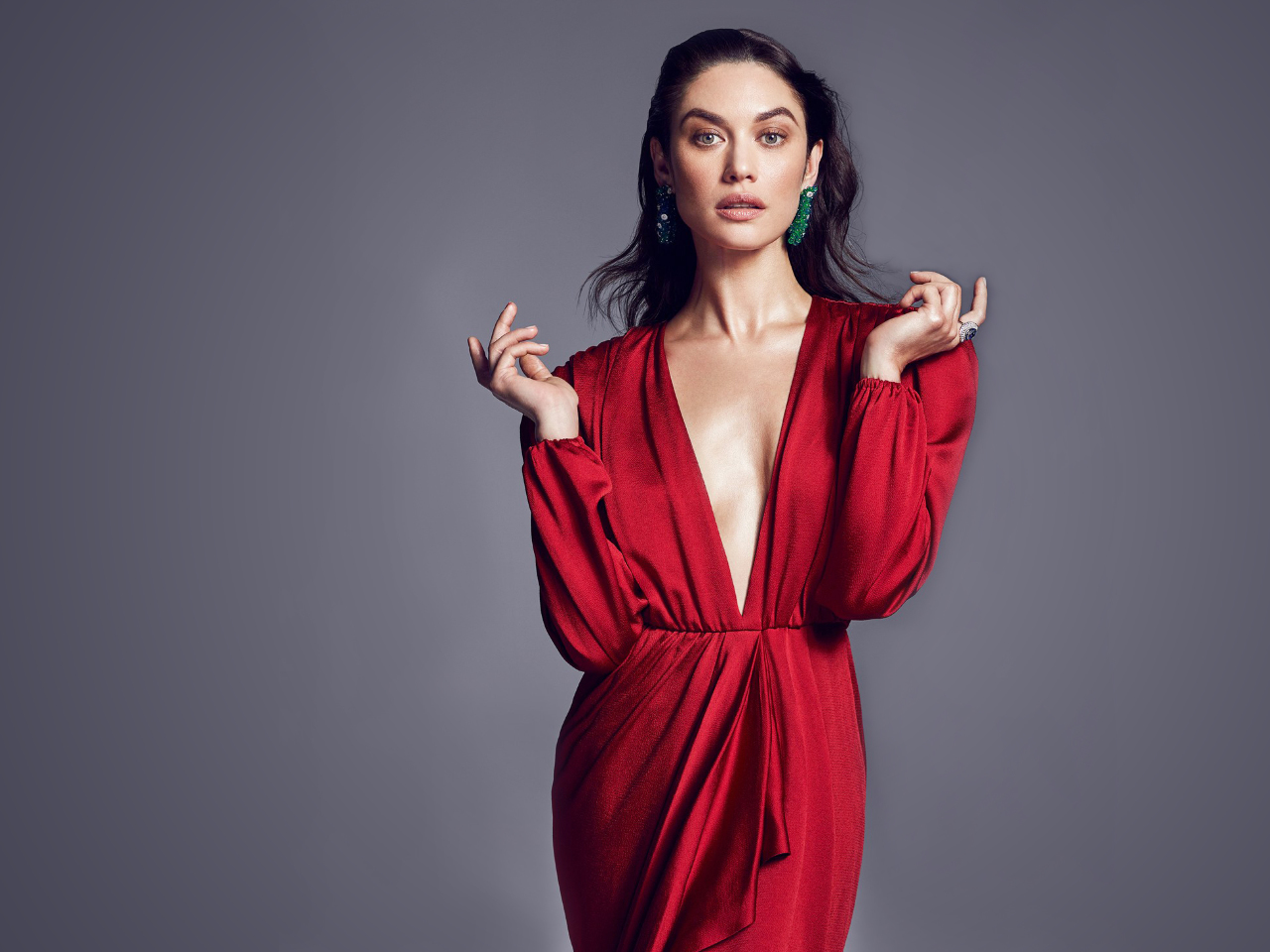 Olga Kurylenko 2018 Full Hd 2k Wallpaper