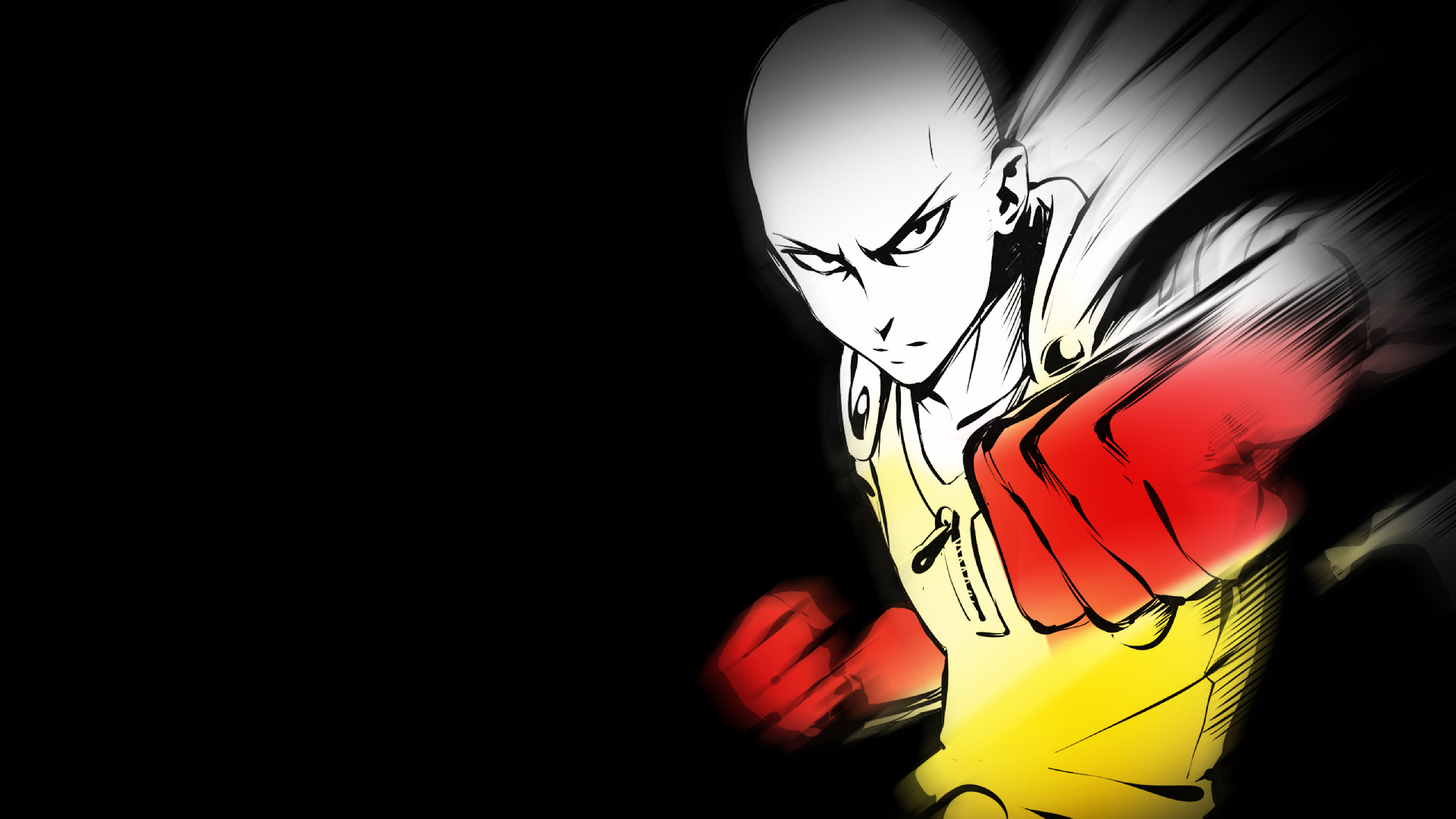 2560x1440 One-Punch Man Saitama 1440P Resolution Wallpaper ...