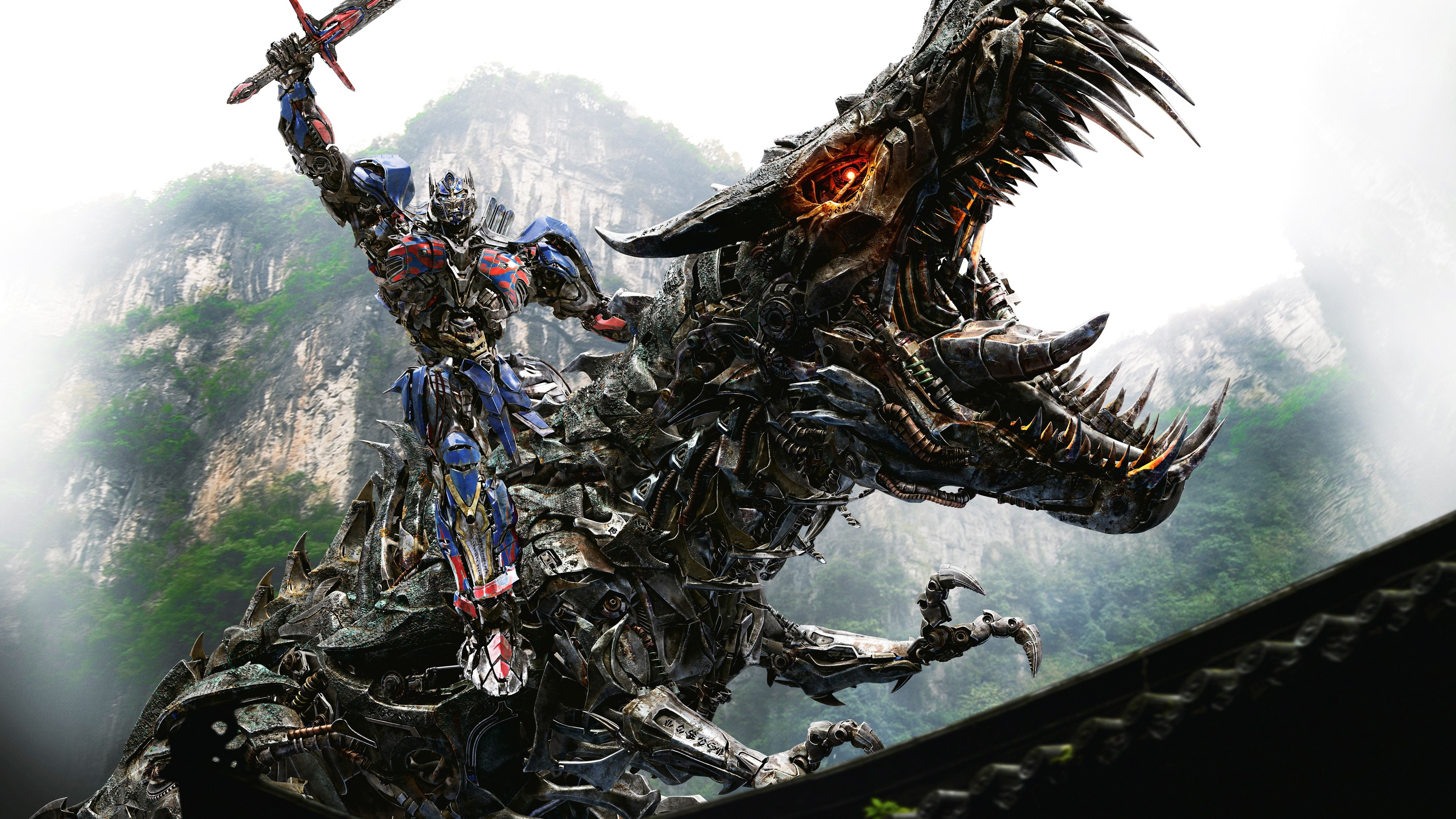 optimus prime on dinobot hd 4k wallpaper