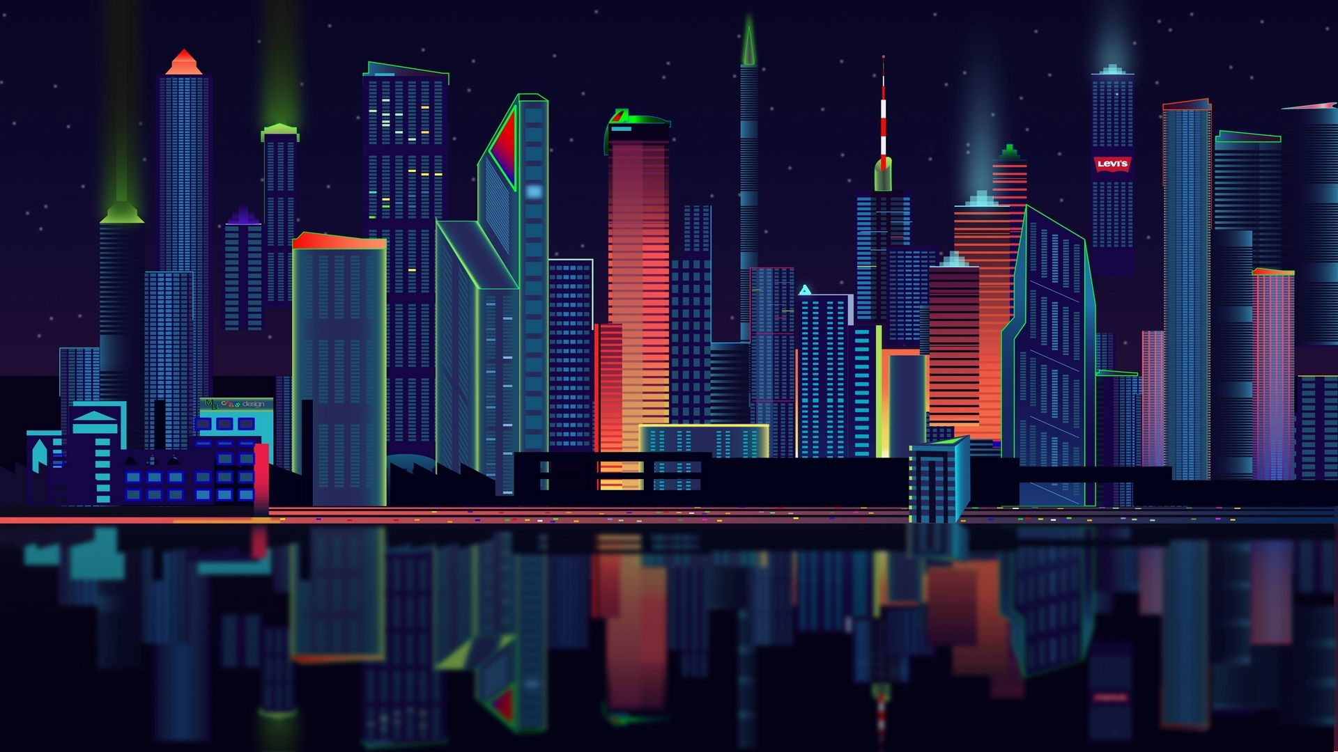 1920x1080 Panorama Vector City 1080p Laptop Full Hd Wallpaper Hd Artist 4k Wallpapers Images Photos And Background Wallpapers Den