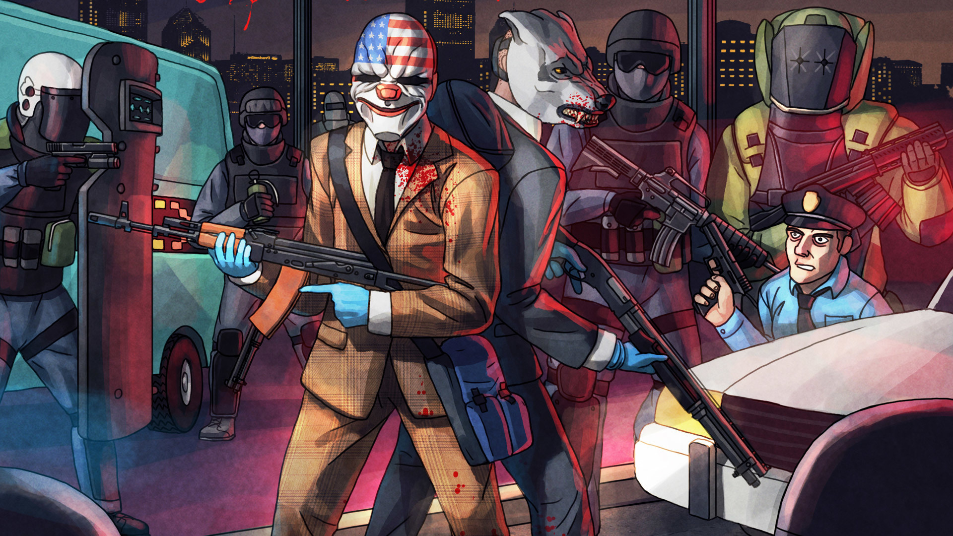 Payday 2 Dallas And Wolf Wallpaper Hd Games 4k Wallpapers
