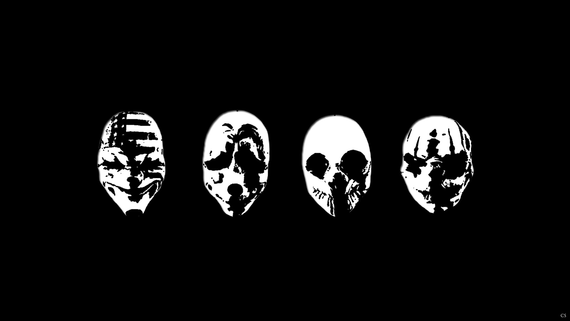 Payday Masks Wallpaper Hd Minimalist 4k Wallpapers Images