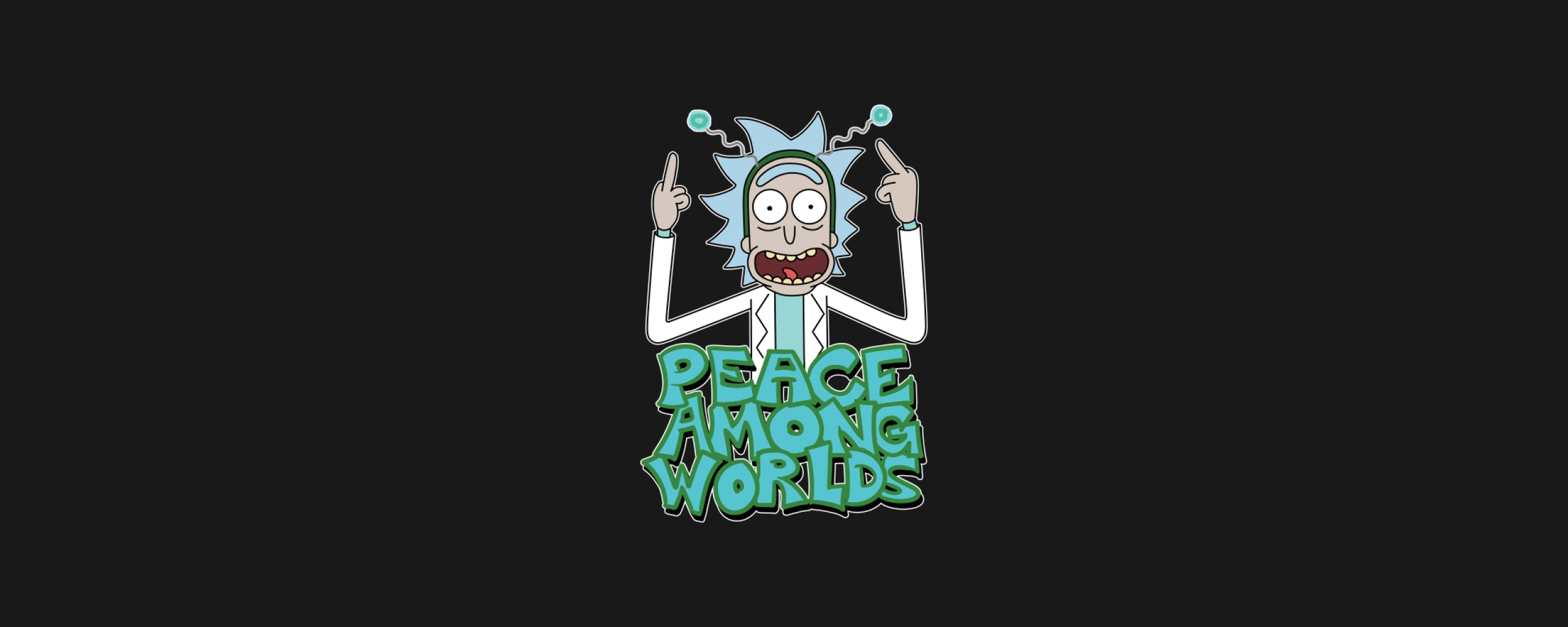 2560x1024 Peace Among Worlds Rick And Morty 2560x1024 Resolution