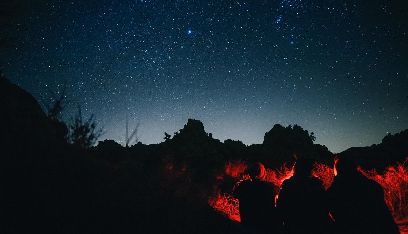 1336x768 People Sitting Around Campfire In Dark Night Hd Laptop
