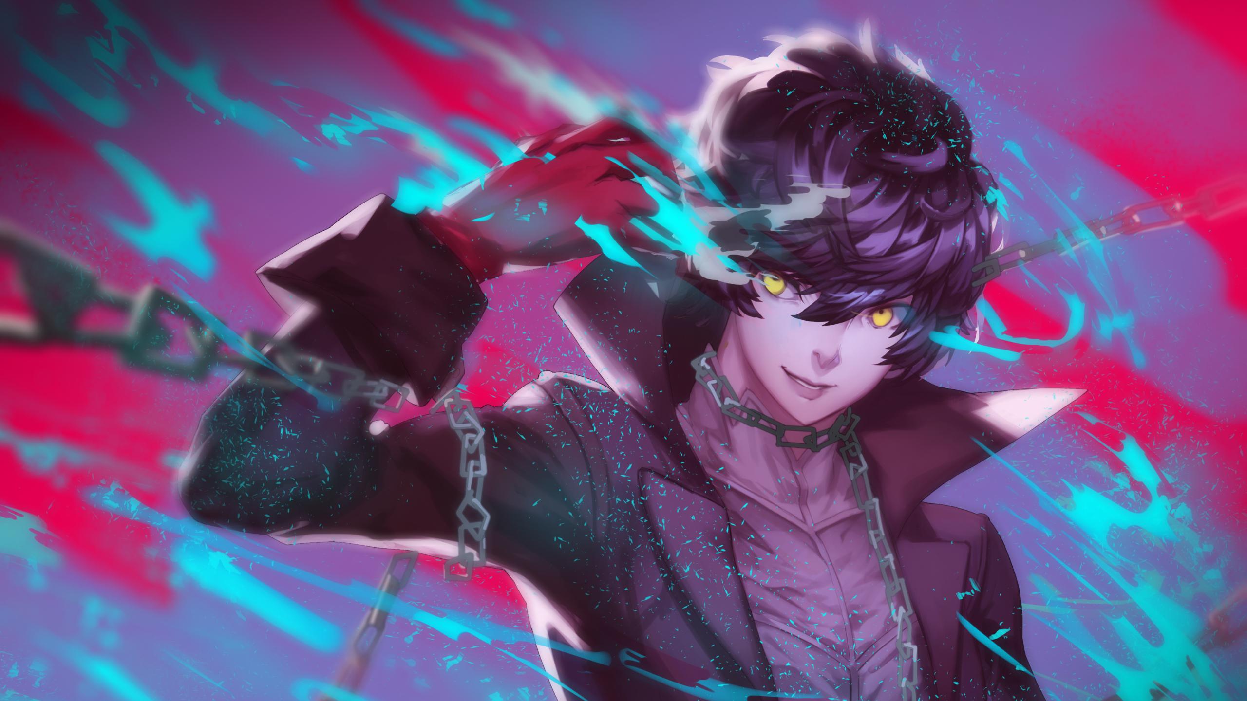 2560x1440 Persona 5 Akira Kurusu Joker 1440p Resolution