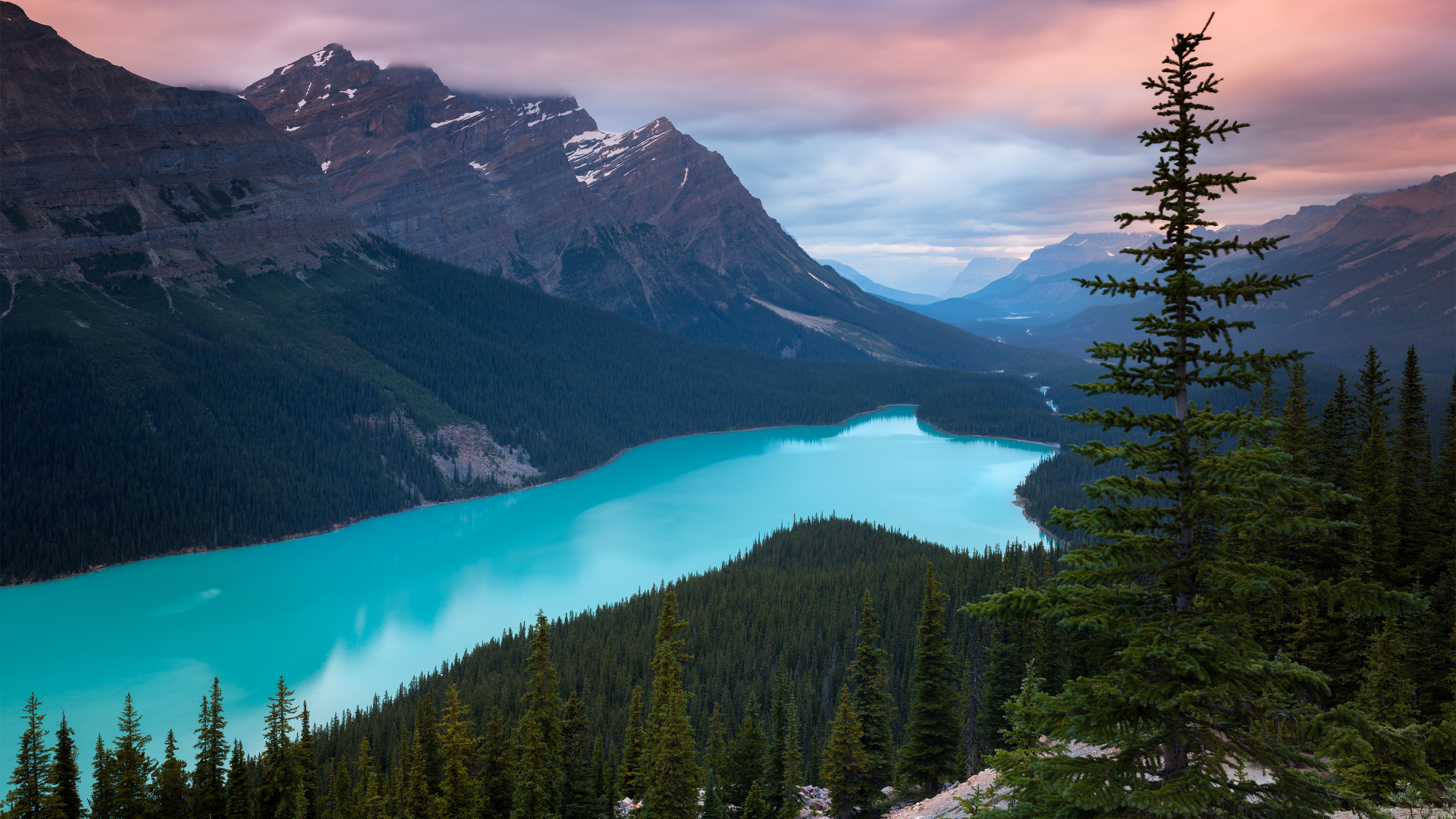 4k Hd Wallapaper: Peyto Lake Canada Mountains, HD 4K Wallpaper