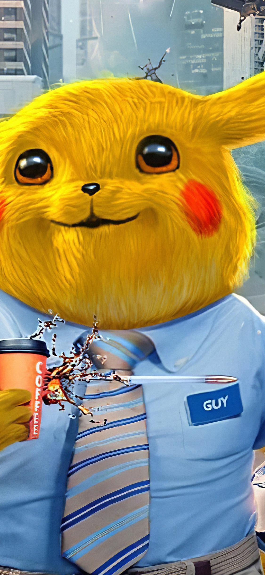 1125x2436 Pikachu as Free Guy Art 4K Iphone XS,Iphone 10 ...