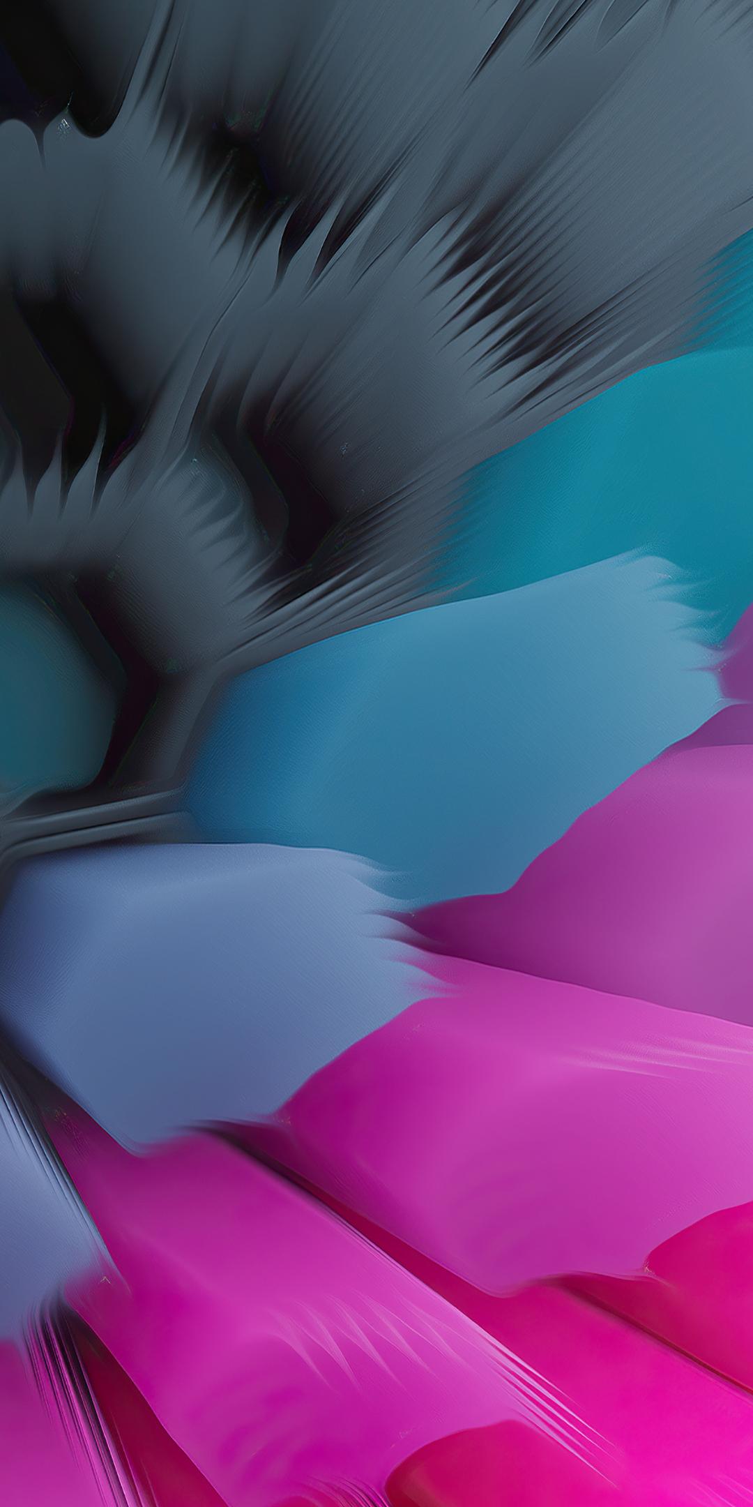 Pink Blue 4K Hexagon Wallpaper in 1080x2160 Resolution