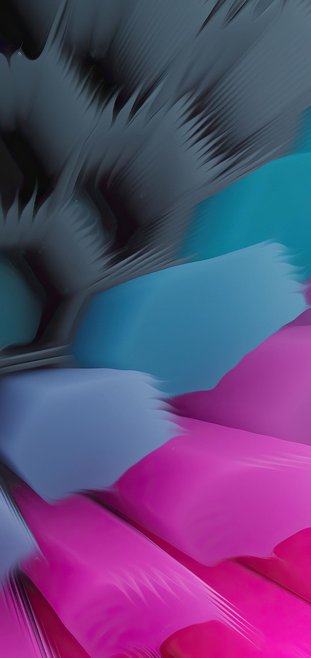 Pink Blue 4K Hexagon Wallpaper in 1080x2280 Resolution