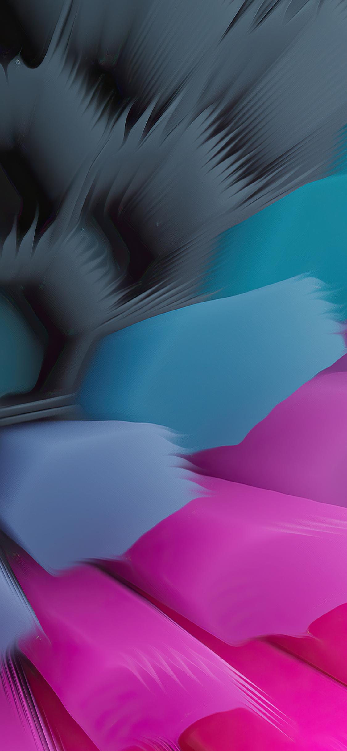 Pink Blue 4K Hexagon Wallpaper in 1125x2436 Resolution