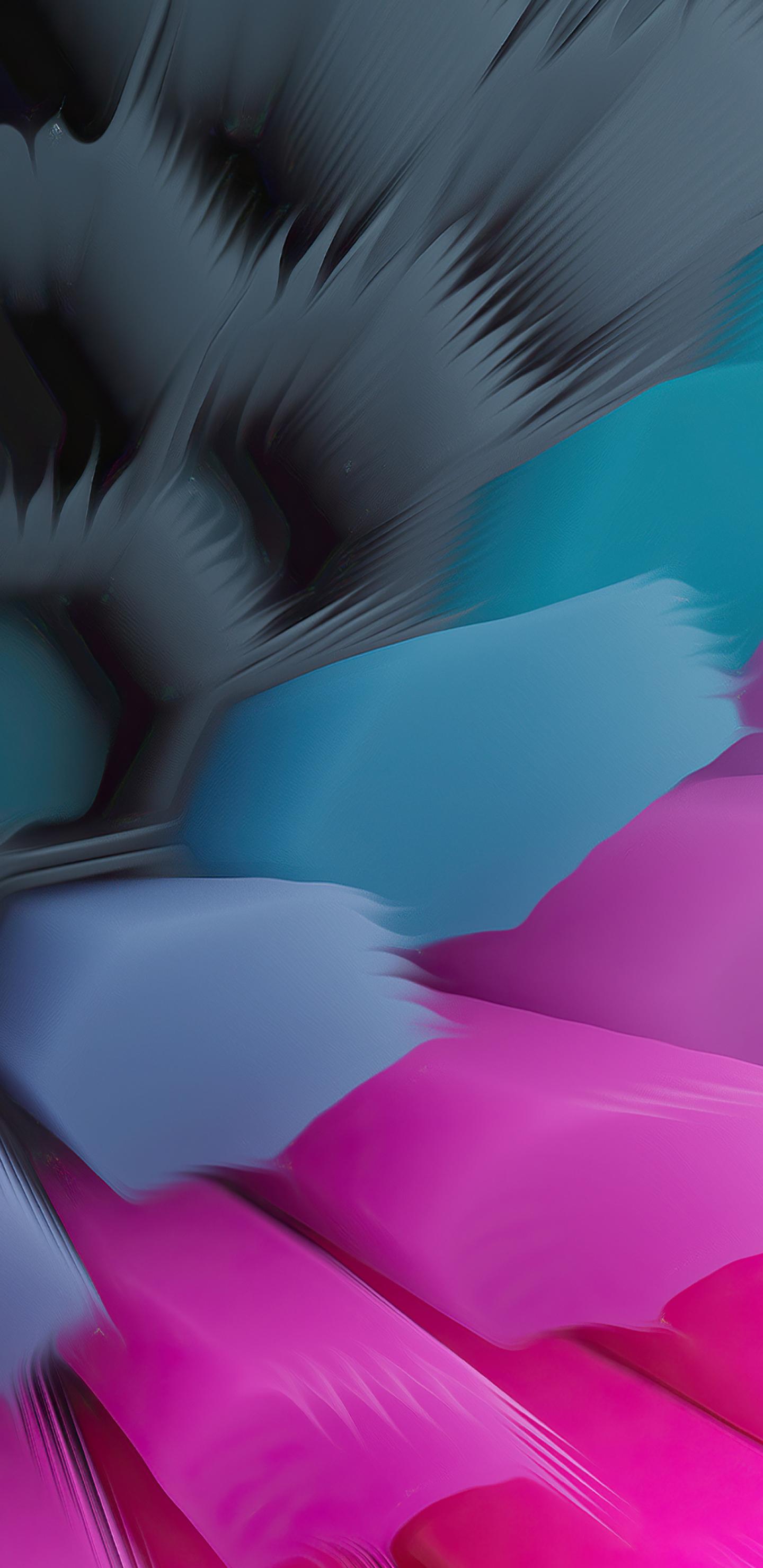 Pink Blue 4K Hexagon Wallpaper in 1440x2960 Resolution
