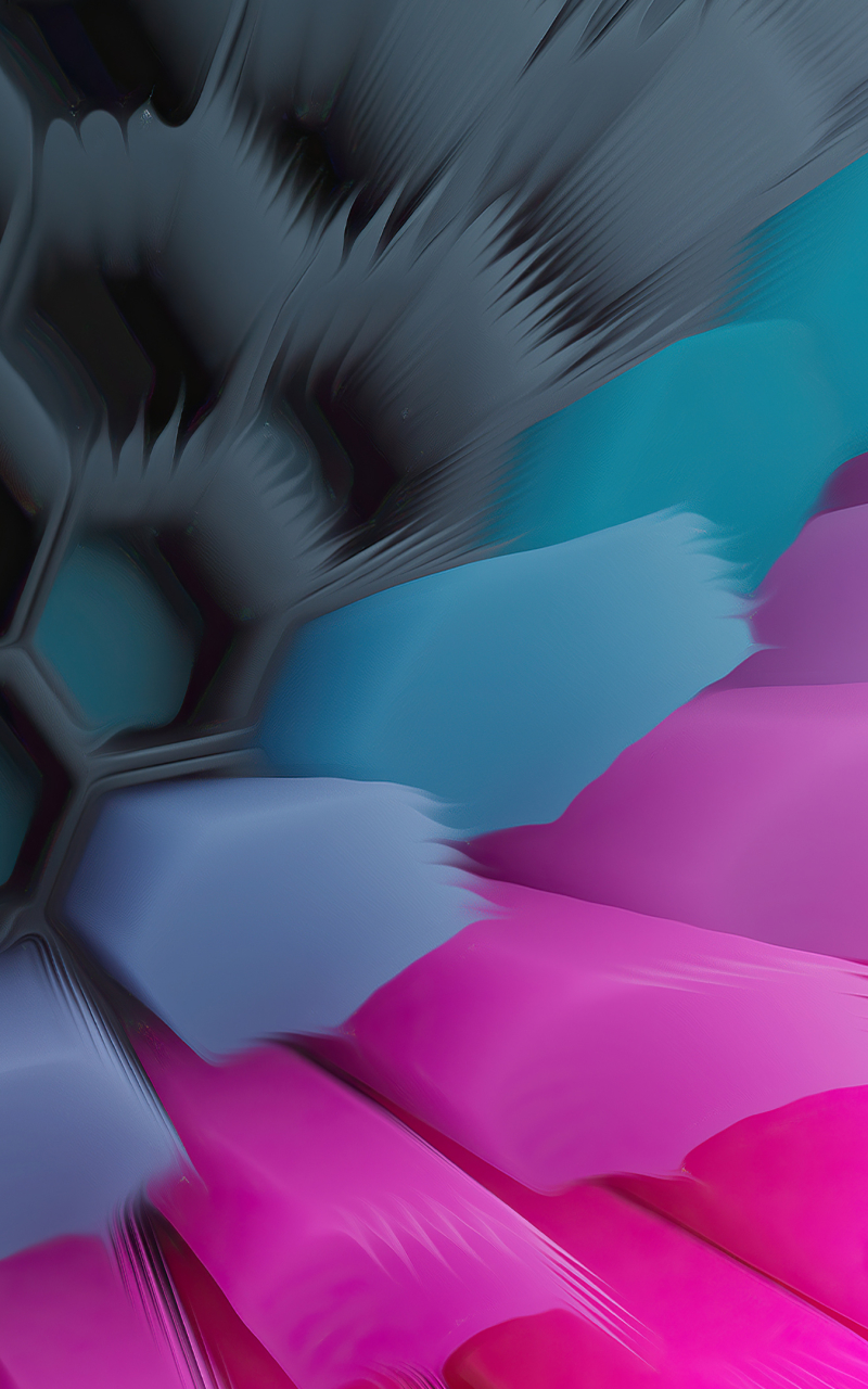 Pink Blue 4K Hexagon Wallpaper in 800x1280 Resolution