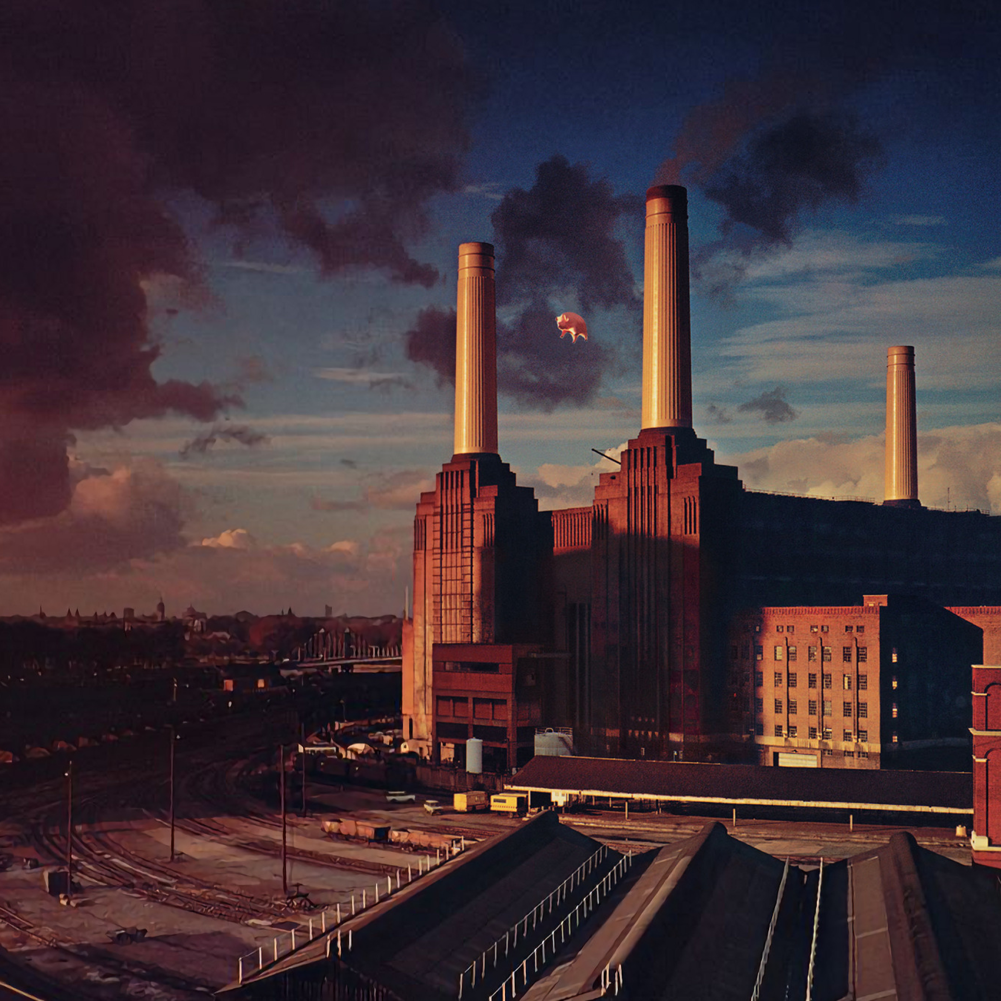 2048x2048 Pink Floyd Animals Album Cover Ipad Air Wallpaper Hd