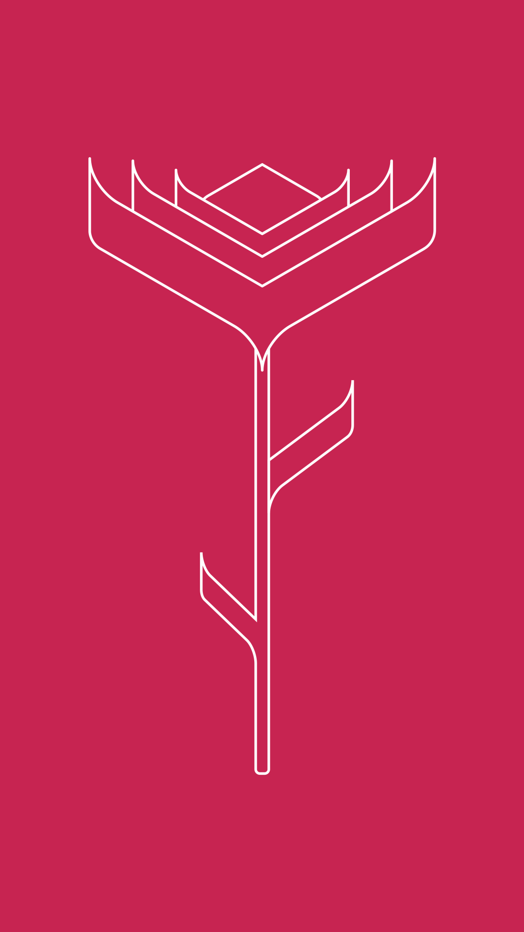 1080x1920 Pink Rose Minimalist Iphone 7, 6s, 6 Plus and ...