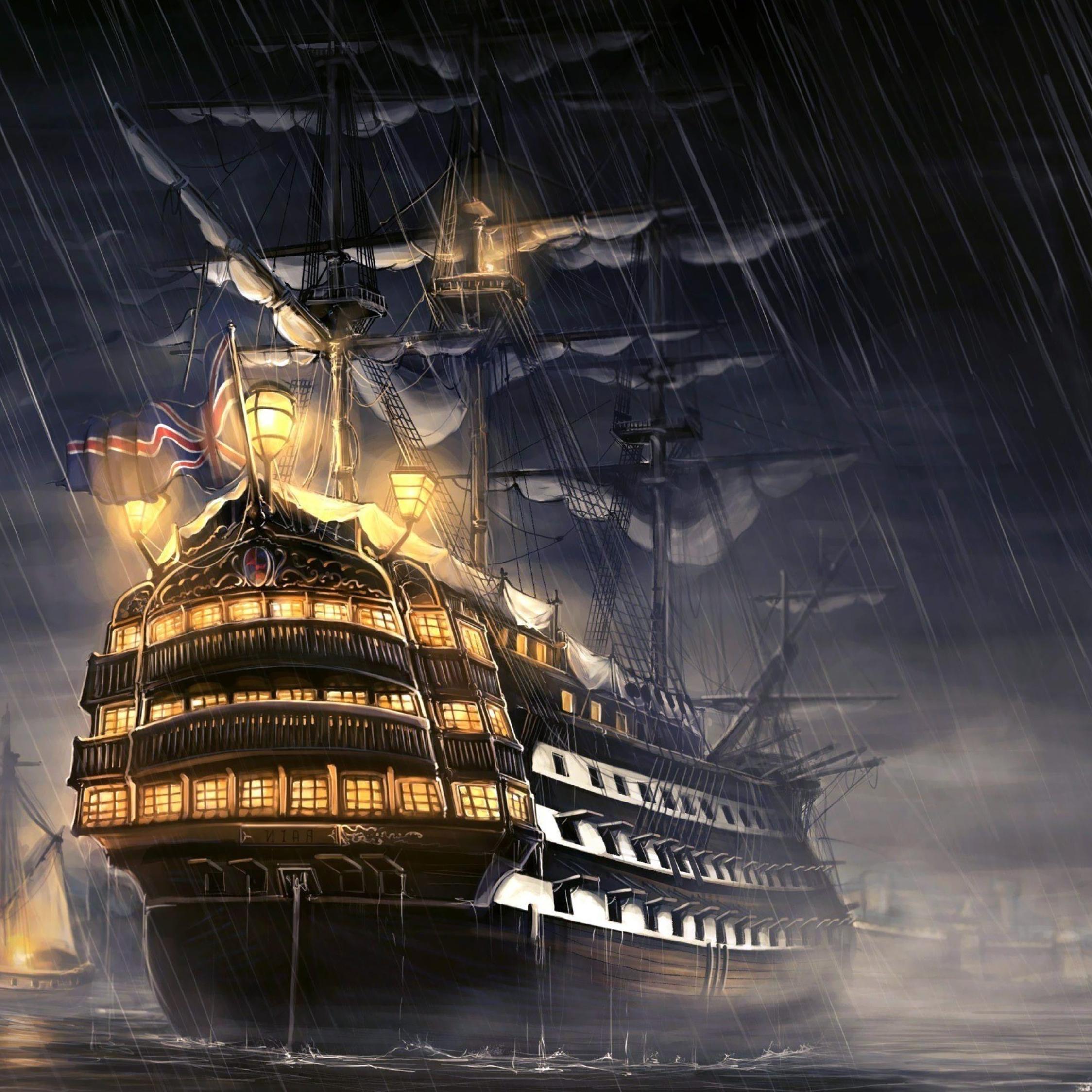 Pirates Of The Caribbean Wallpaper Hd: Pirates Of The Caribbean Ship Artwork, Full HD 2K Wallpaper