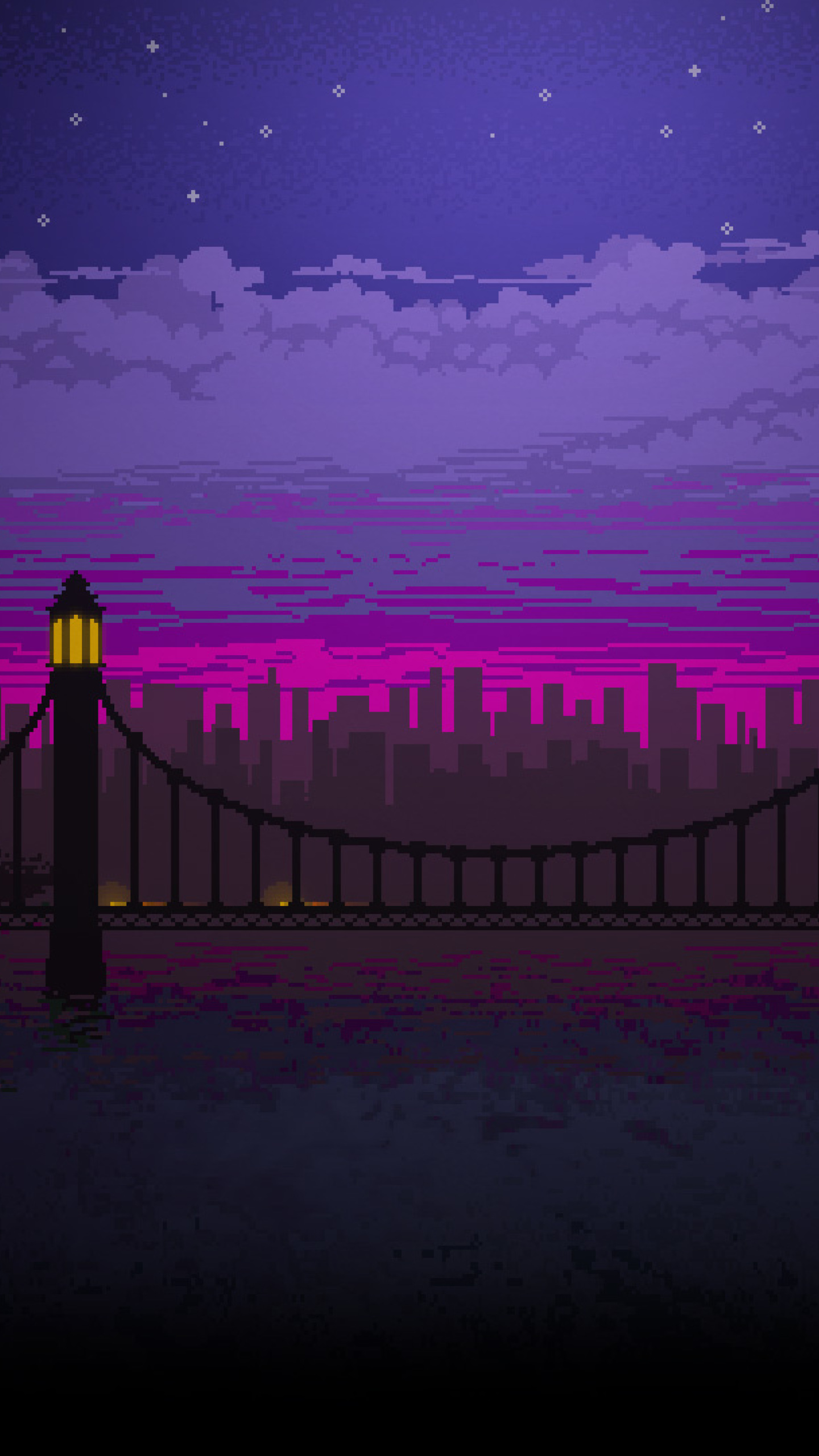 Xperia Wallpaper 1920x1080 Pixel Art Bridge Night...