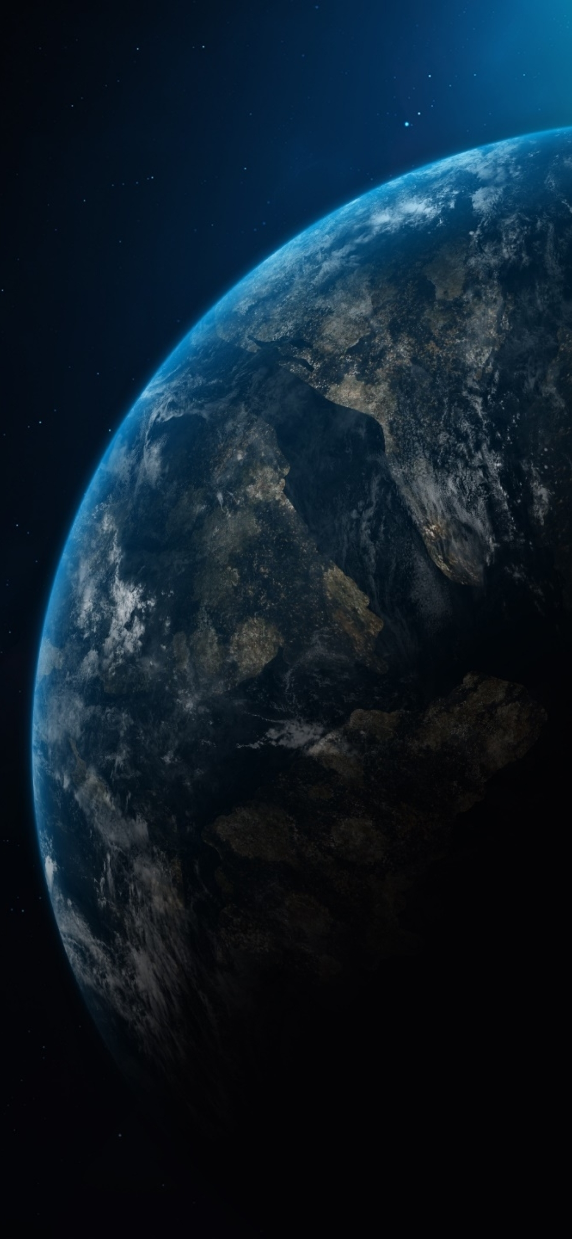 1125x2436 Planet Earth In Dark Universe Iphone Xs Iphone 10 Iphone X Wallpaper Hd Space 4k Wallpapers Images Photos And Background